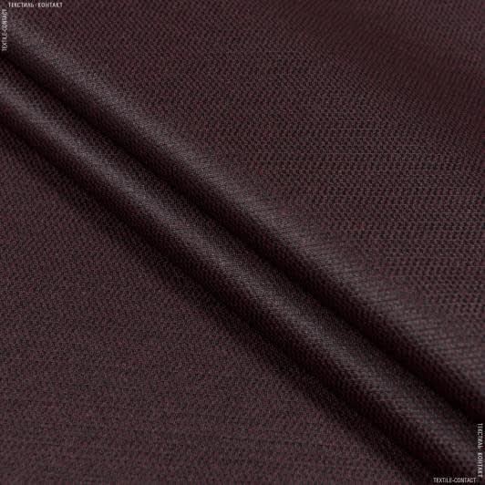 Ткани для скатертей - Ткань с акриловой пропиткой мориссот/   morissot   рогожка т.гранат