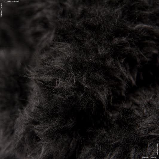 Ткани для спец.одежды - Мех подкладочный полированный черный