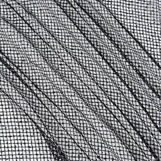 Ткани для драпировки стен и потолков - Тюль сетка  элиза/ черный