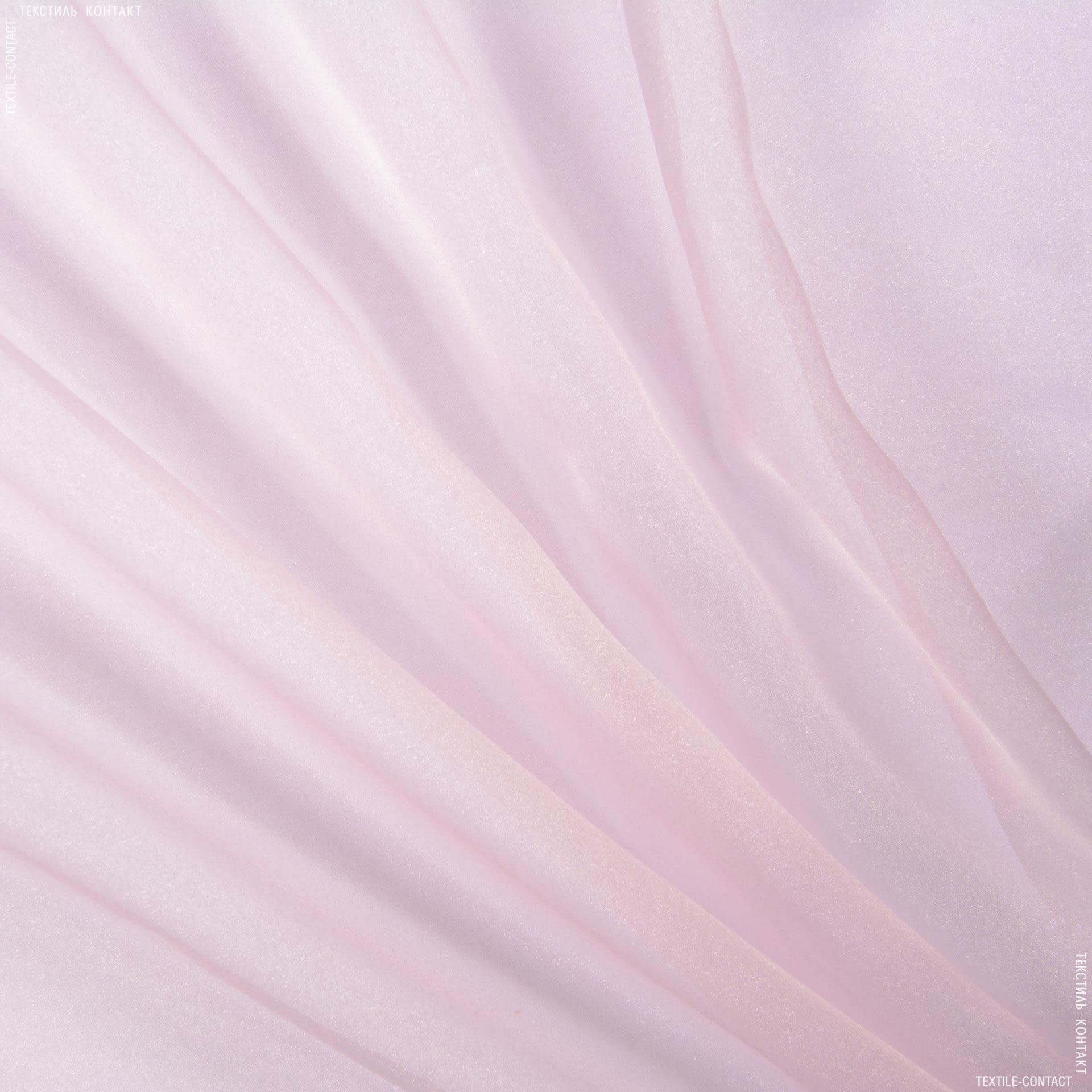Ткани для костюмов - Органза розовый
