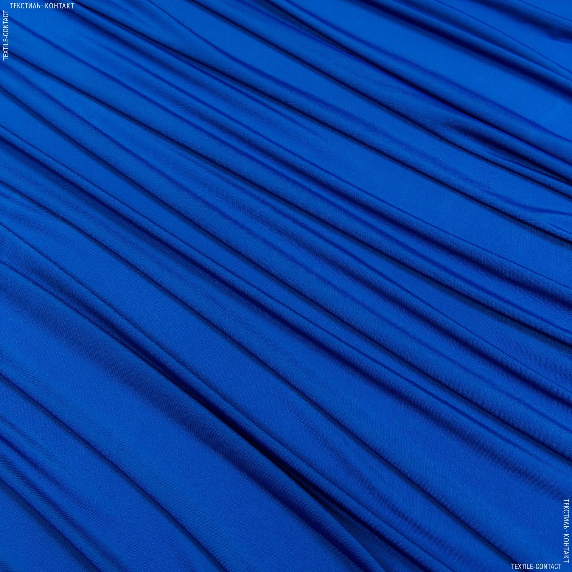 Ткани для платьев - Трикотаж масло васильковый