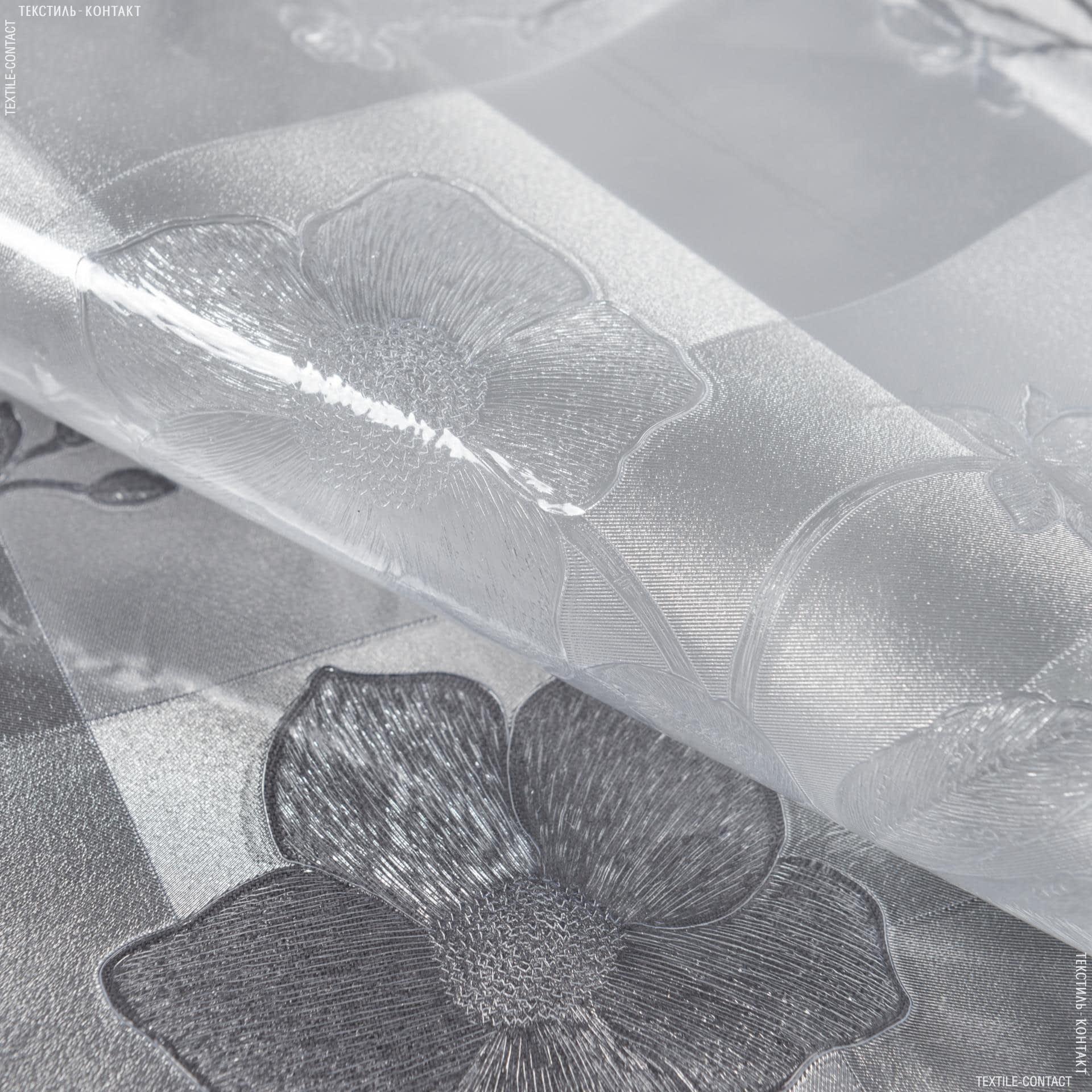 Ткани horeca - Скатертная пленка  клетка цветы