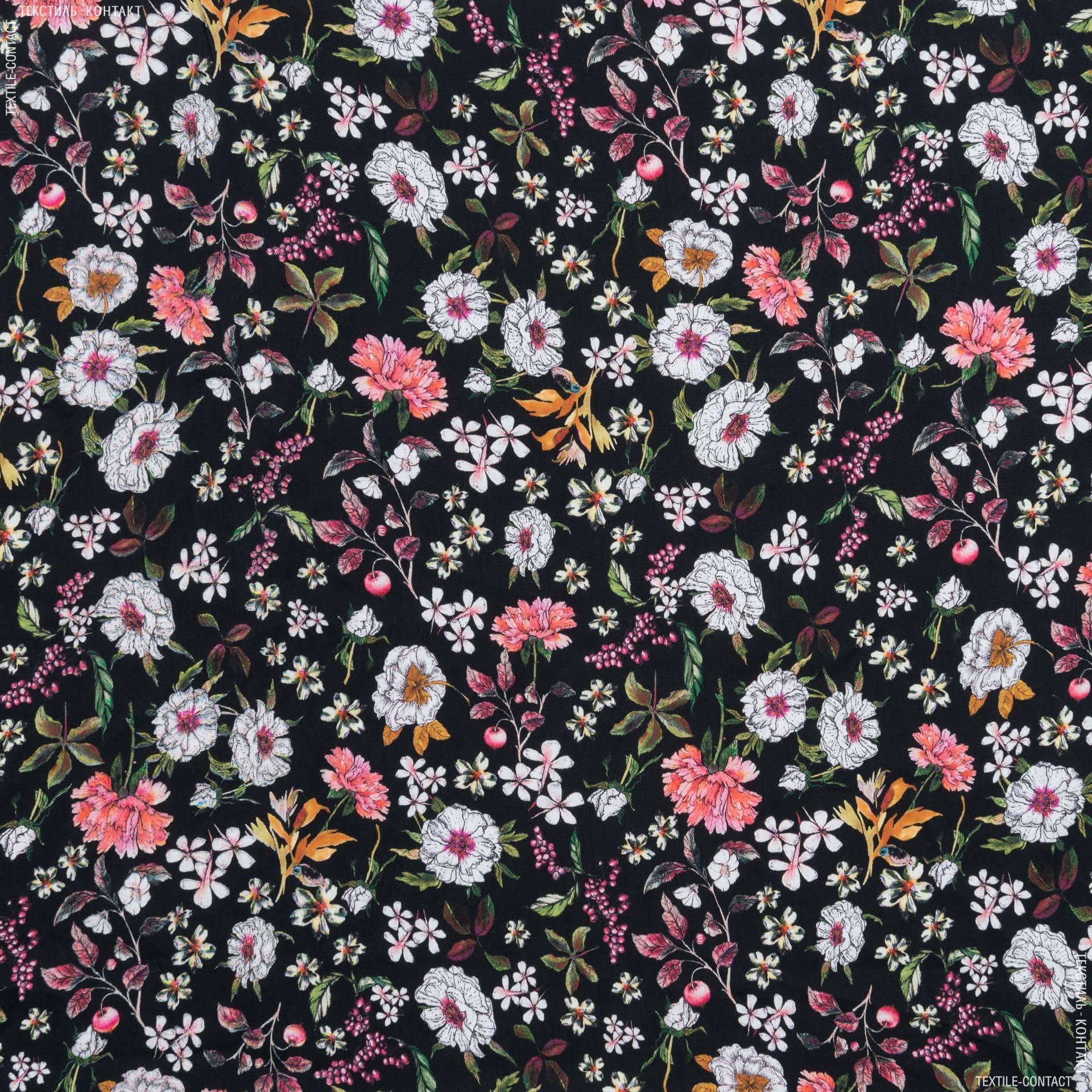 Ткани для платков и бандан - Плательно-блузочный сатин принт