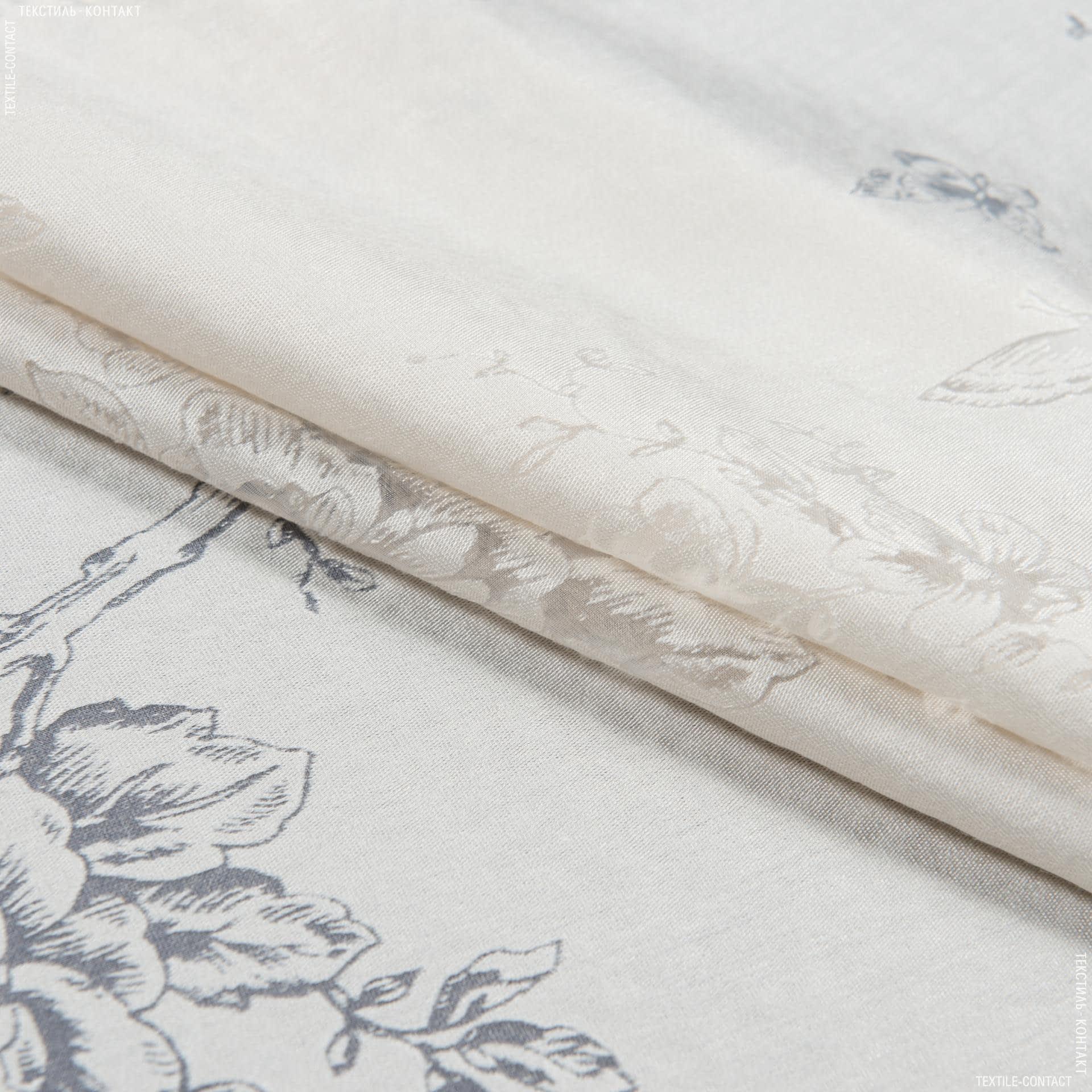 Тканини для тюлі - Тюль з обважнювачем випал троянди метелики/devore satin soft пісок