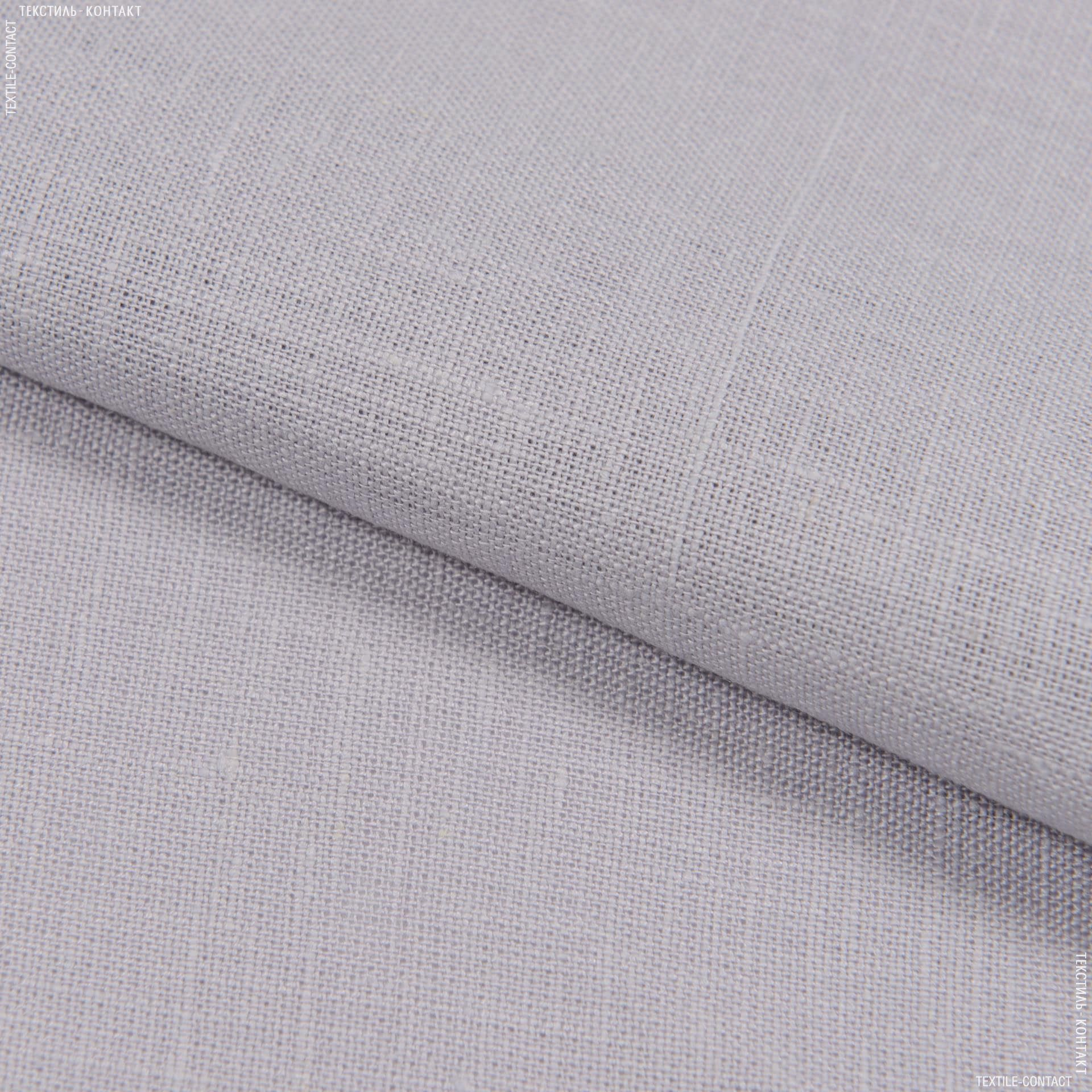 Тканини для блузок - Льон костюмний пом'якшений бузково-сірий
