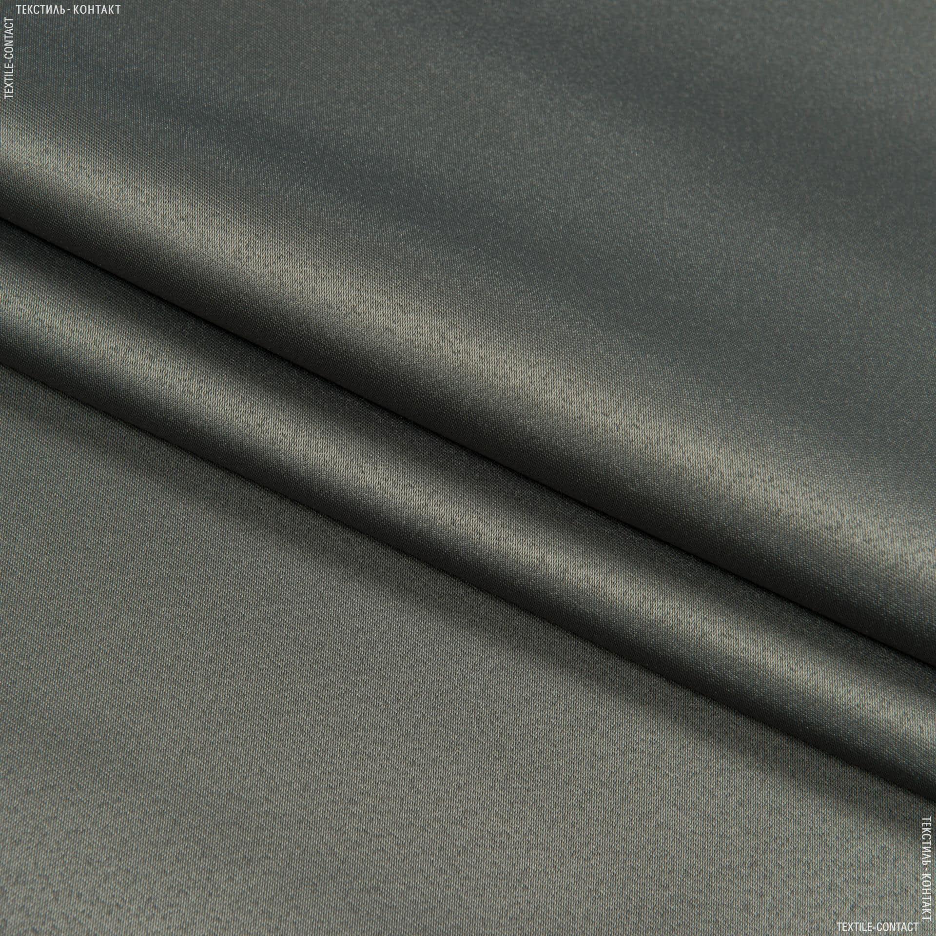 Тканини портьєрні тканини - Декоративний атлас Дека / DECA графіт