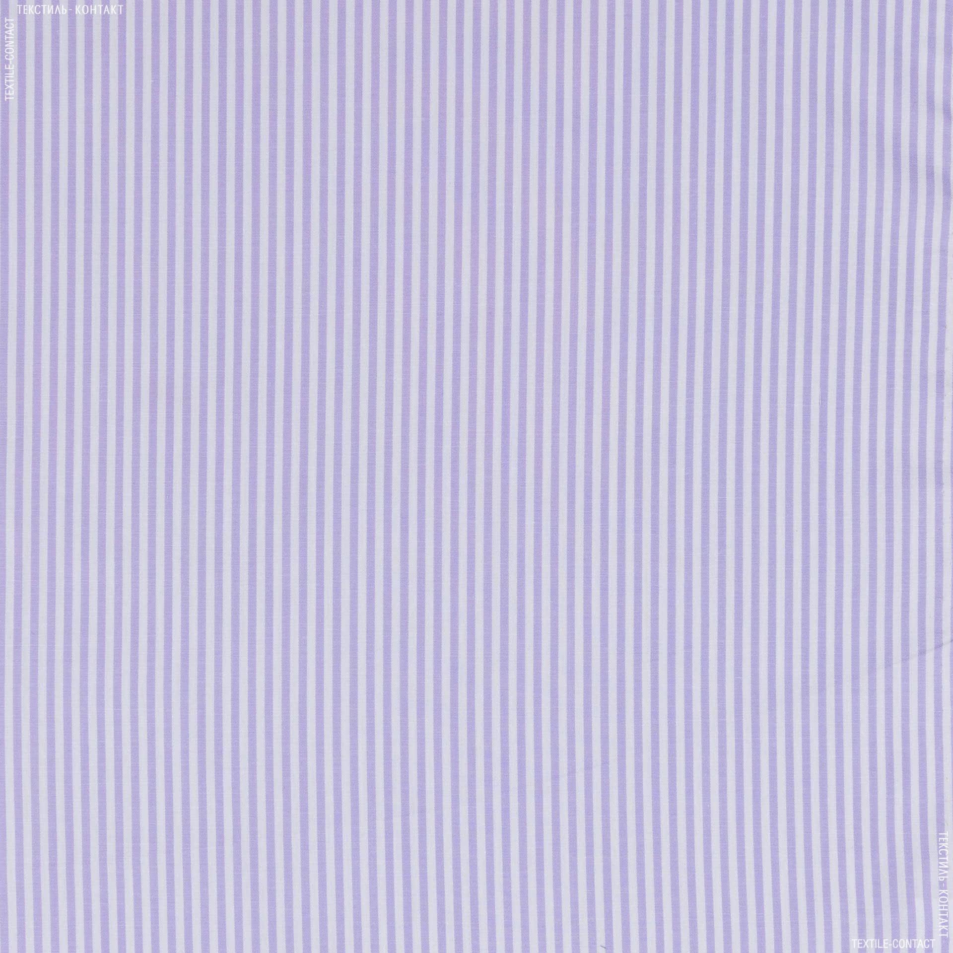 Ткани для платков и бандан - Сорочечная getzner полоса бело/сиреневый