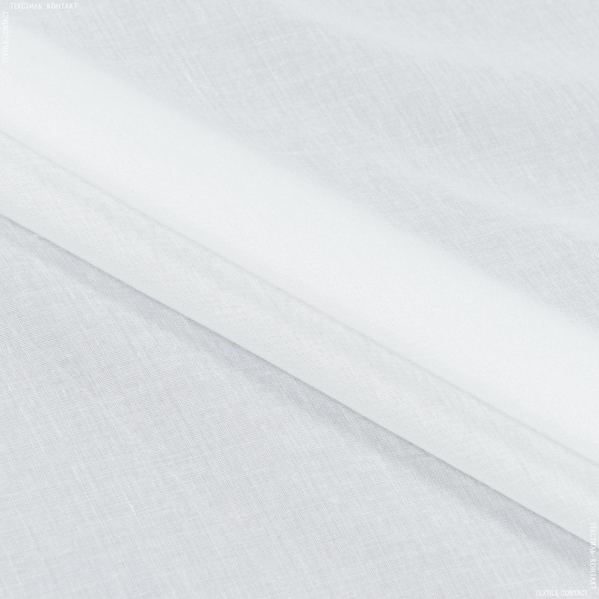 Тканини для драпірування стін і стель - Тюль батист фантазія молочний з обважнювачем