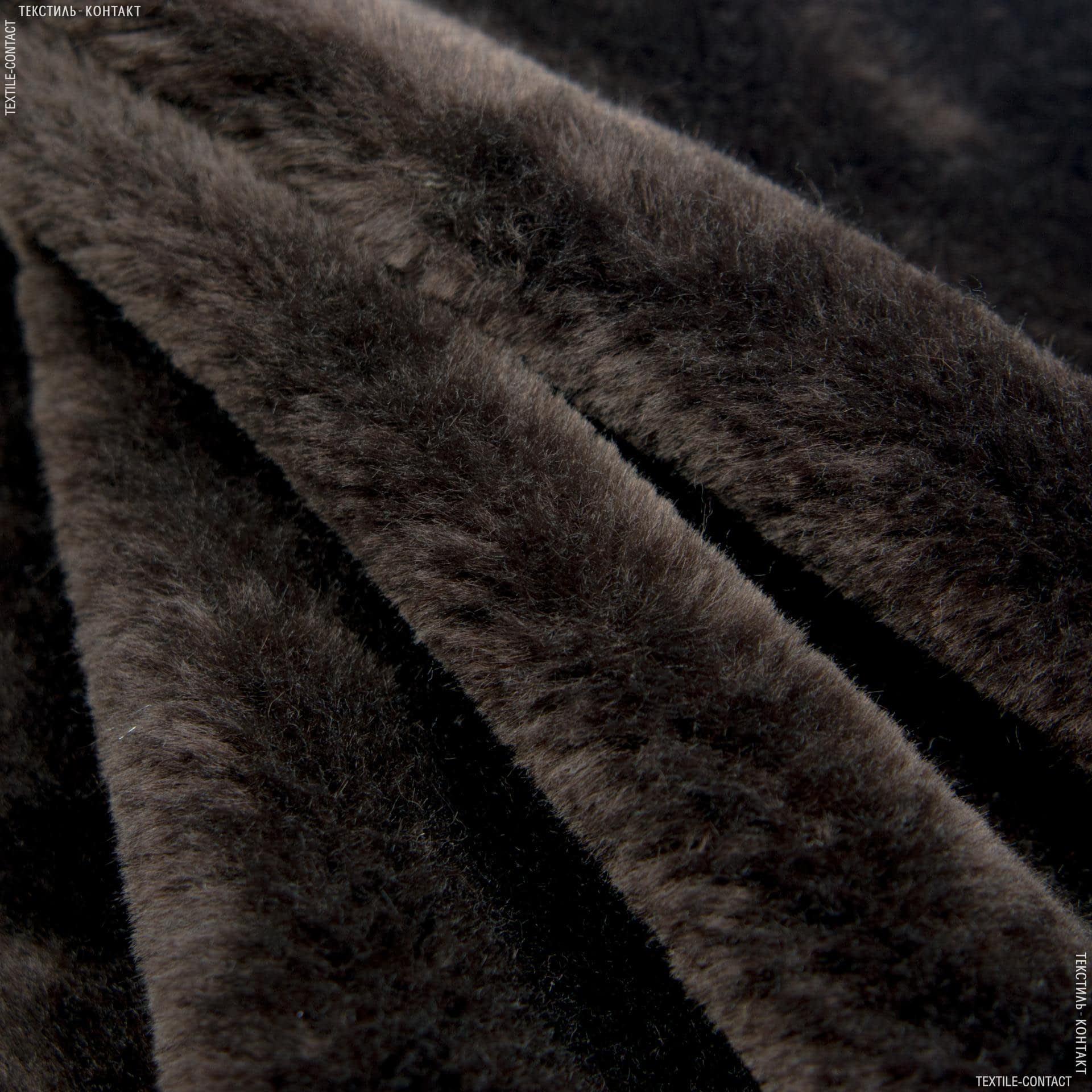 Ткани для мягких игрушек - Мех искусственный коричневый