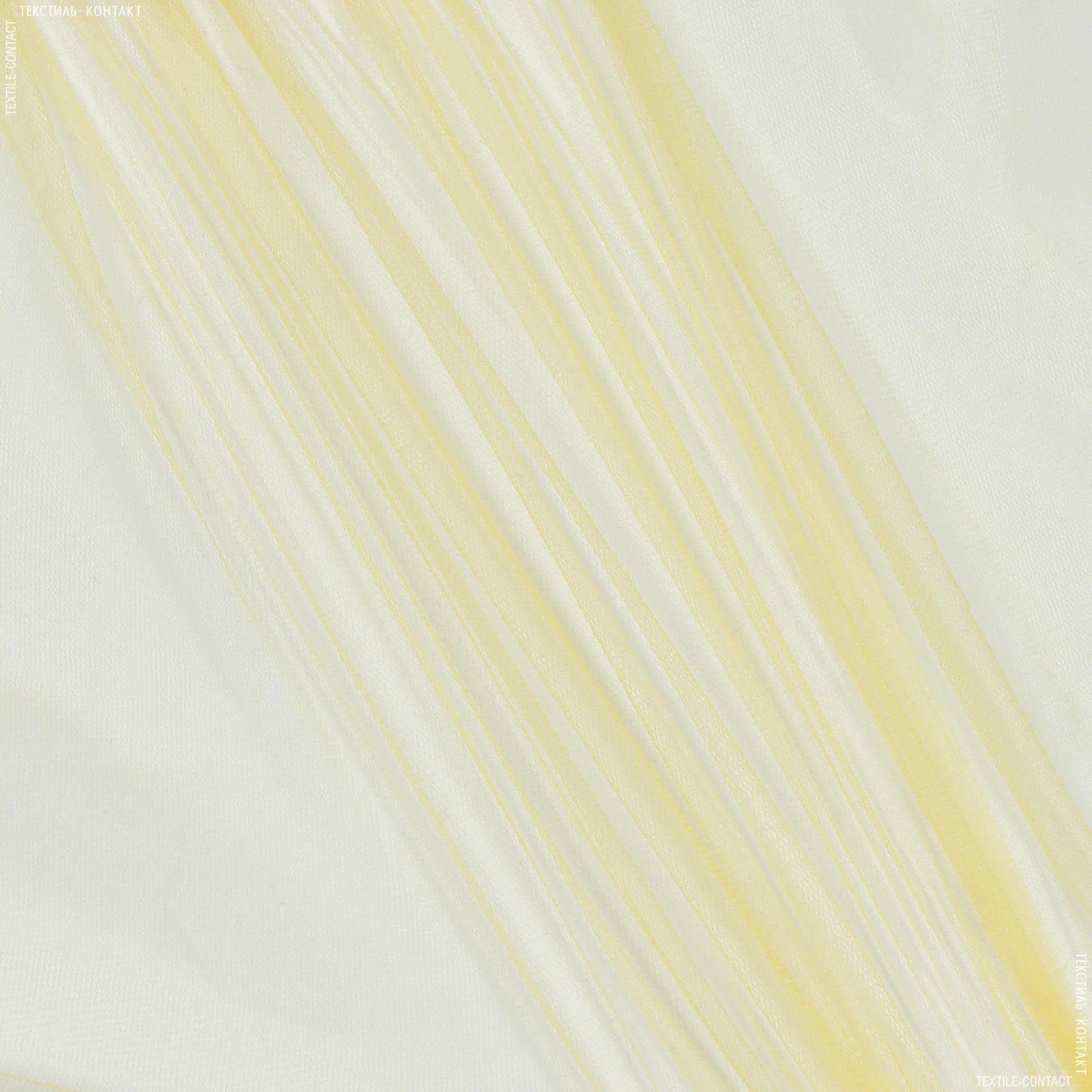 Тканини для суконь - Фатин м'який жовтий