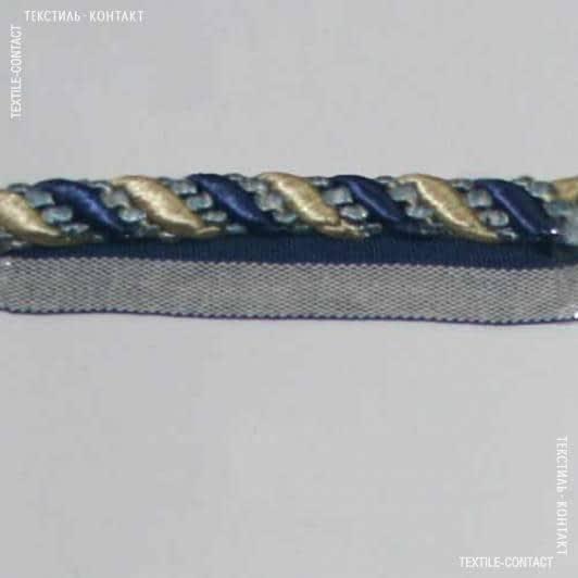 Ткани шнур декоративный - Шнур окантов. Имедженейшен сине-голубой