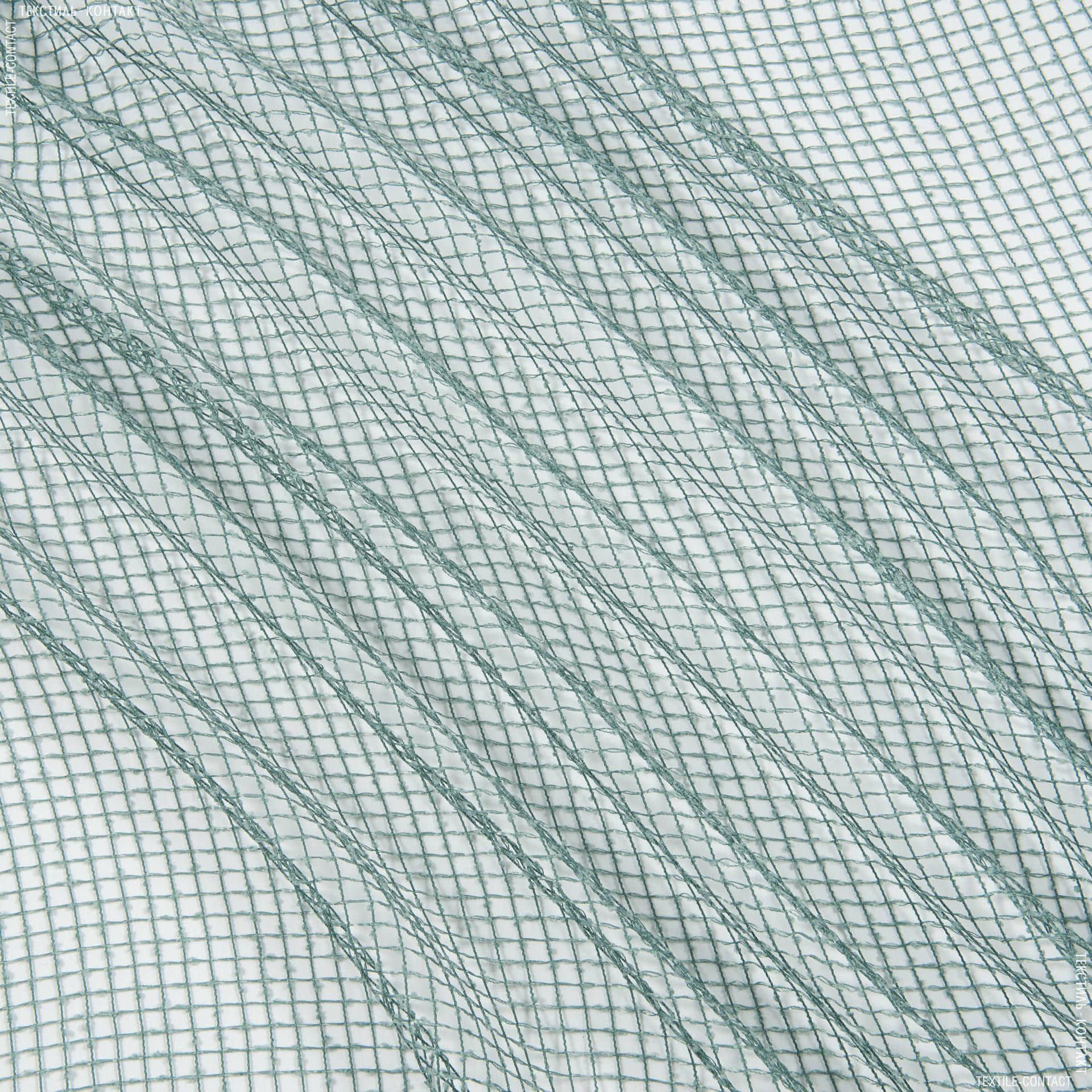 Ткани для драпировки стен и потолков - Тюль сетка  элиза/ мор. волна