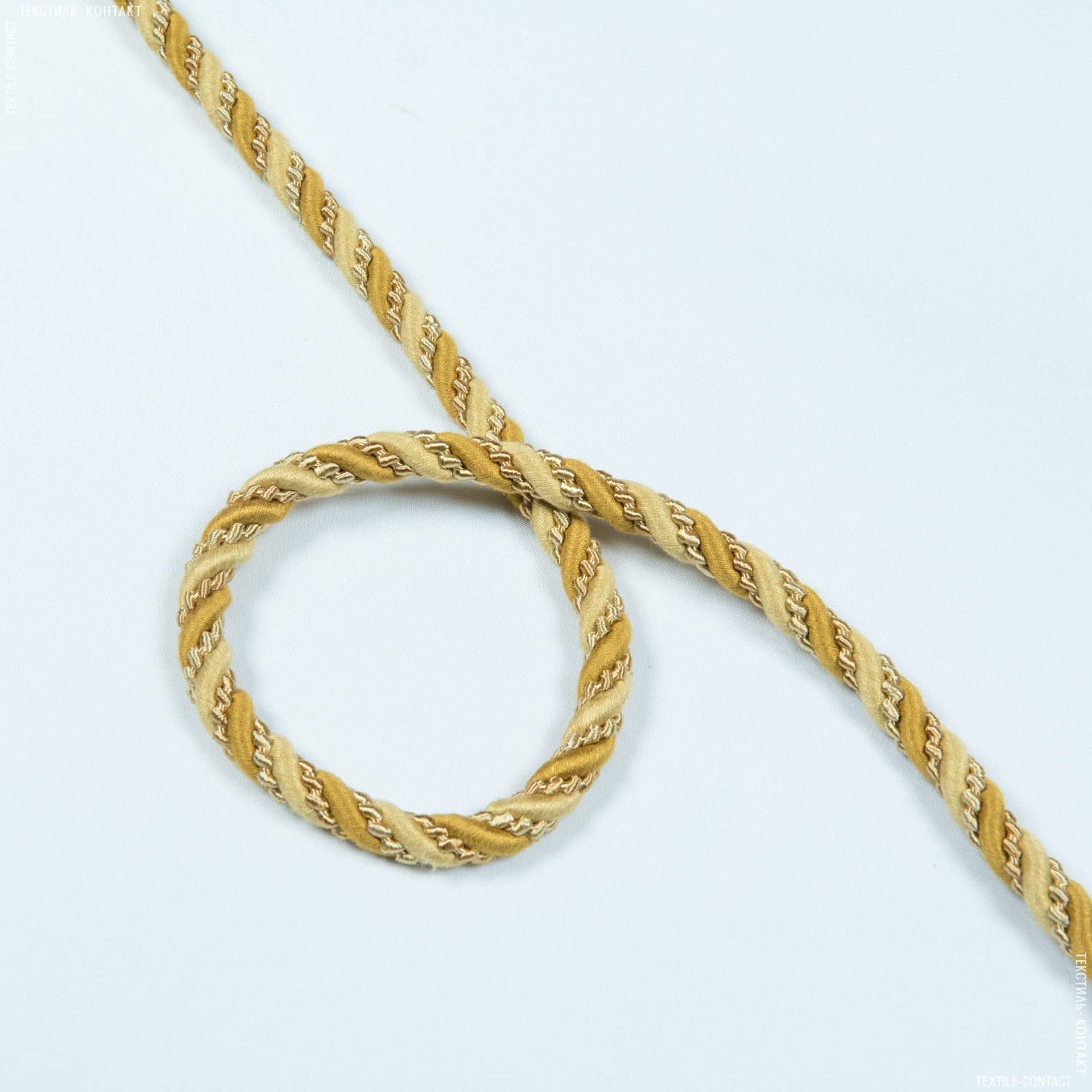 Ткани фурнитура для декора - Шнур окантовочный Базель, золото