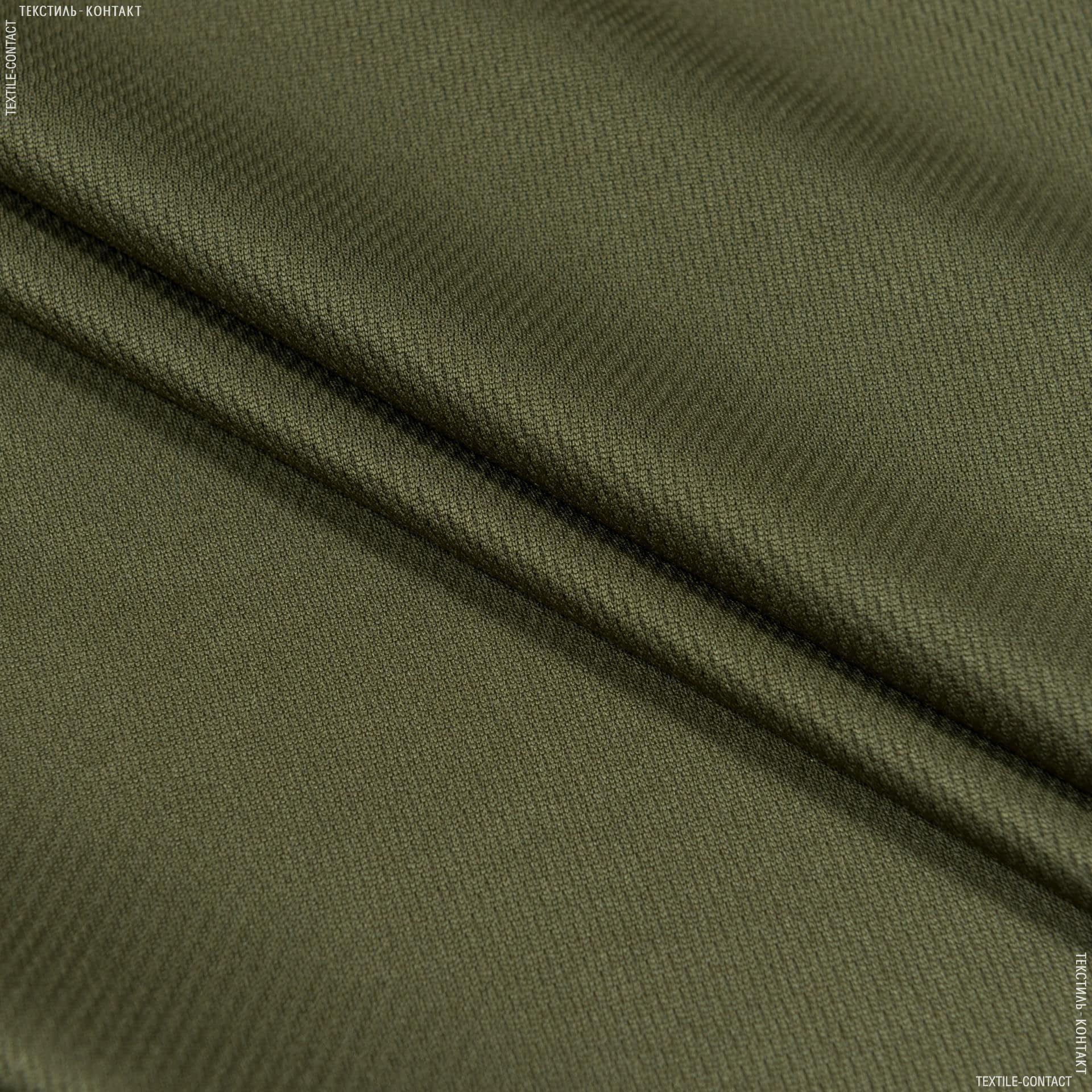 Ткани для спортивной одежды - Микро лакоста хаки