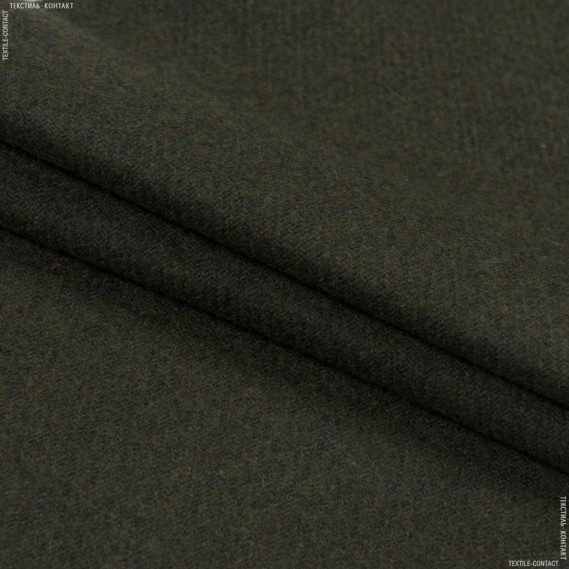 Тканини для верхнього одягу - Пальтова діагональ болотяний
