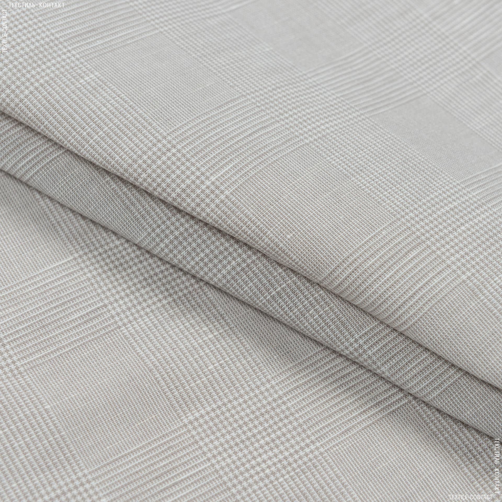 Тканини для хусток та бандан - Котон-льон світло-бежевий