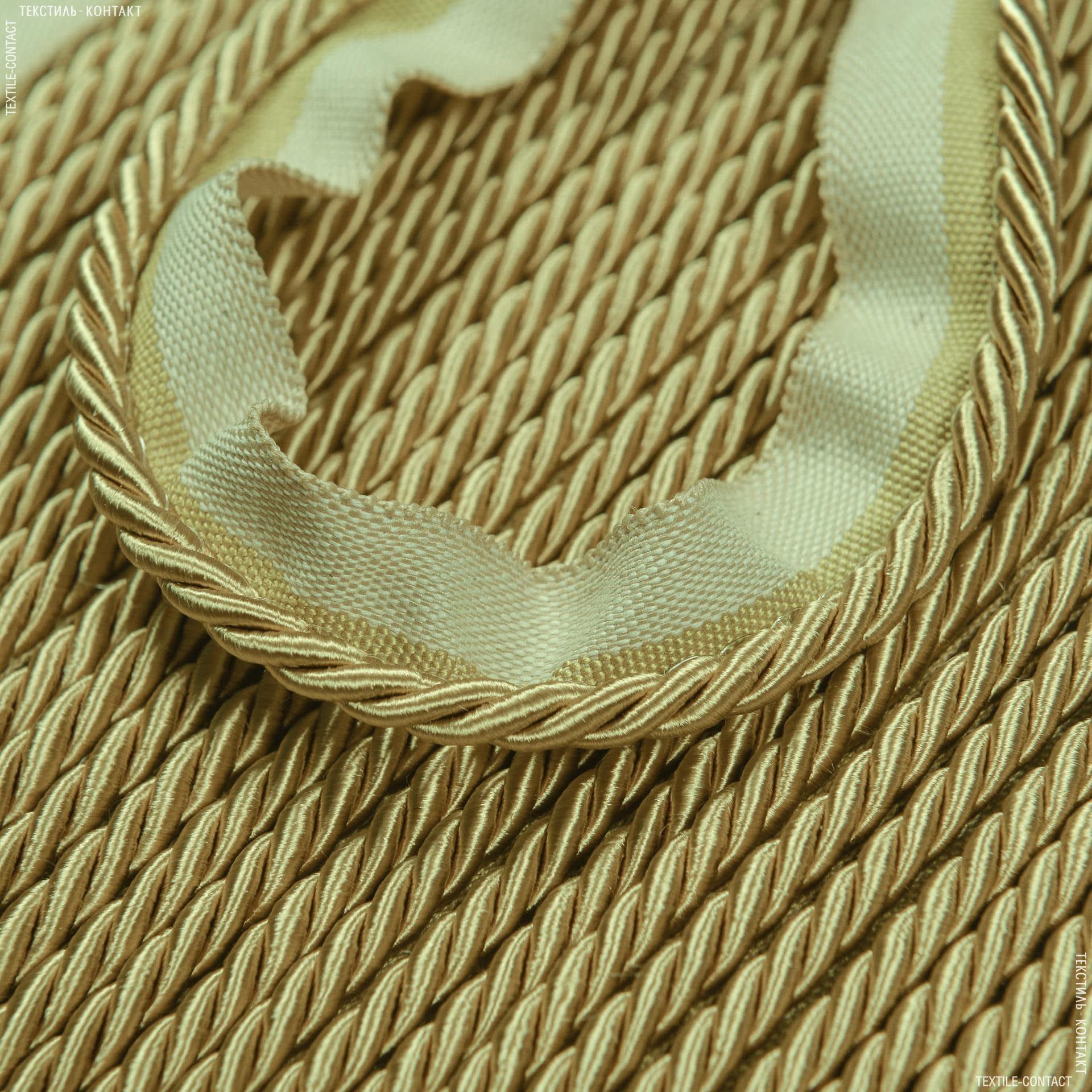 Ткани фурнитура для декора - ШНУР ОКАНТОВОЧНЫЙ ТОНЕНЬКИЙСОЛАР  Т.ЗОЛОТО  d=5мм