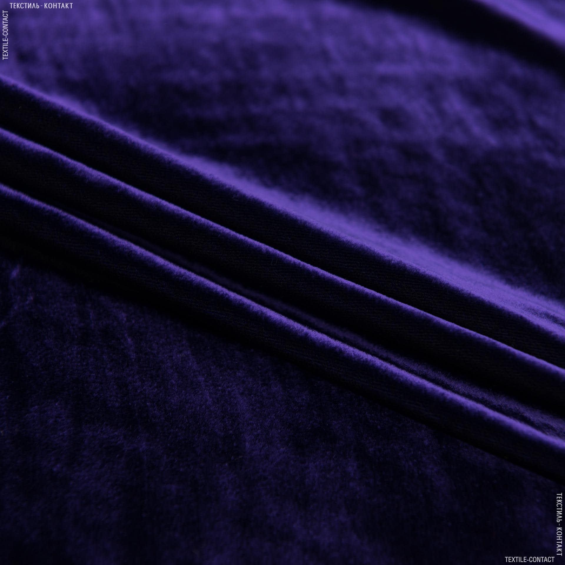 Ткани для костюмов - Бархат шелк натуральный чернило