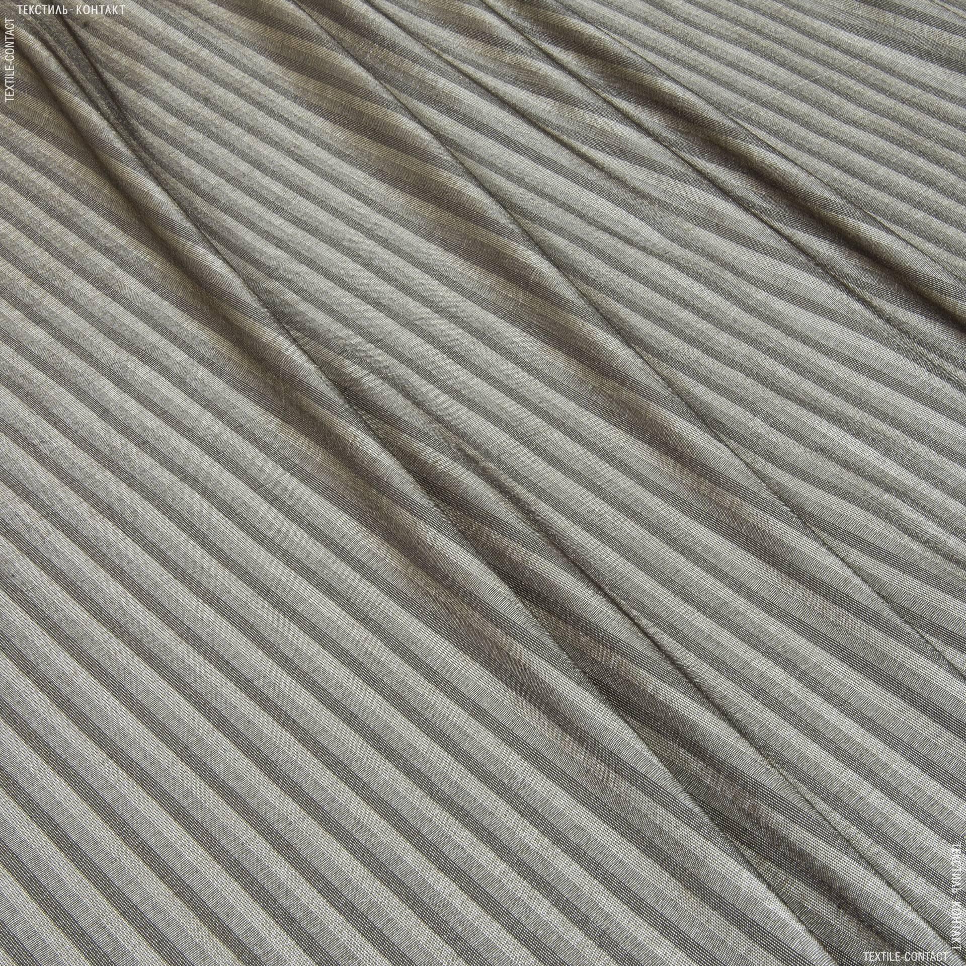Тканини для суконь - Сорочкова стрейч з люрексом бежево-коричневий