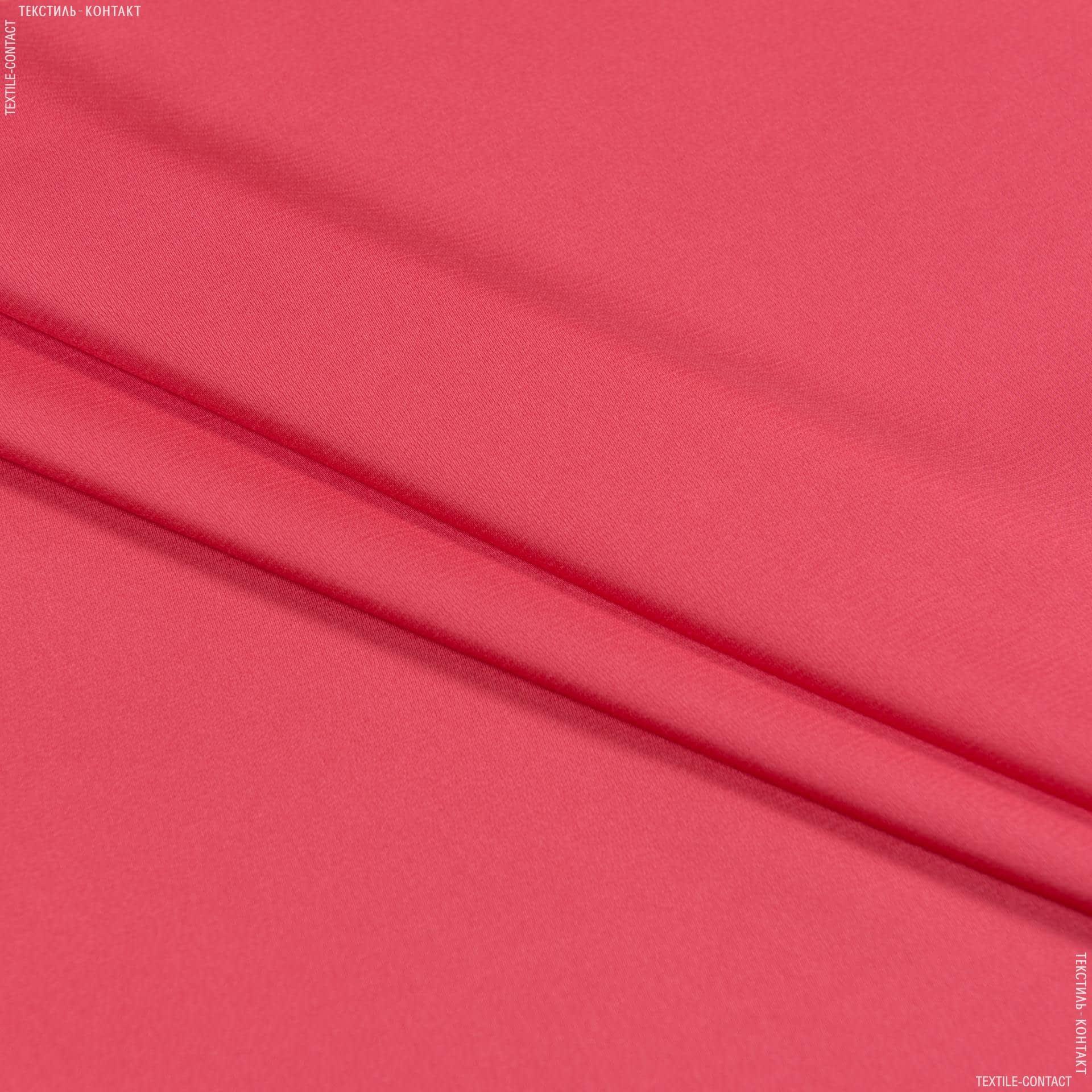 Ткани для платьев - Шелк стрейч матовый коралловый