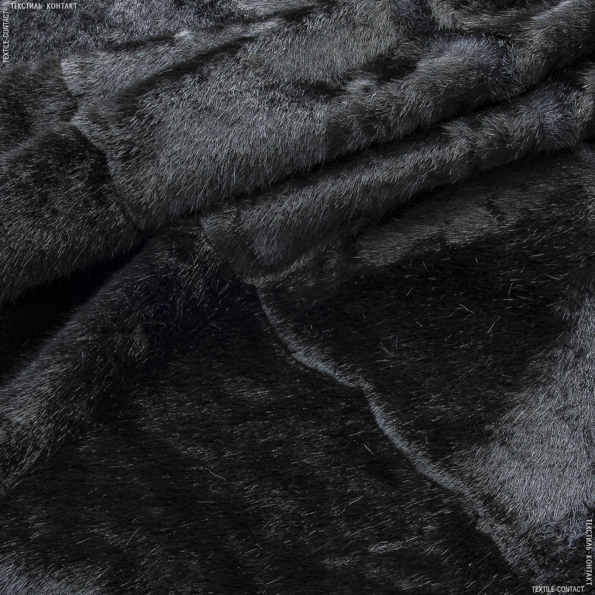 Ткани для верхней одежды - Мех норка искусственная черная