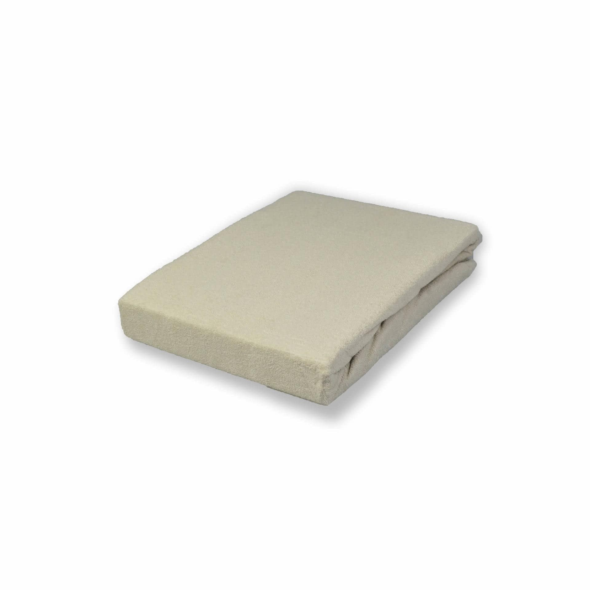 Ткани простыни - Простынь трикотажная на резинке  капучино  100х200 см