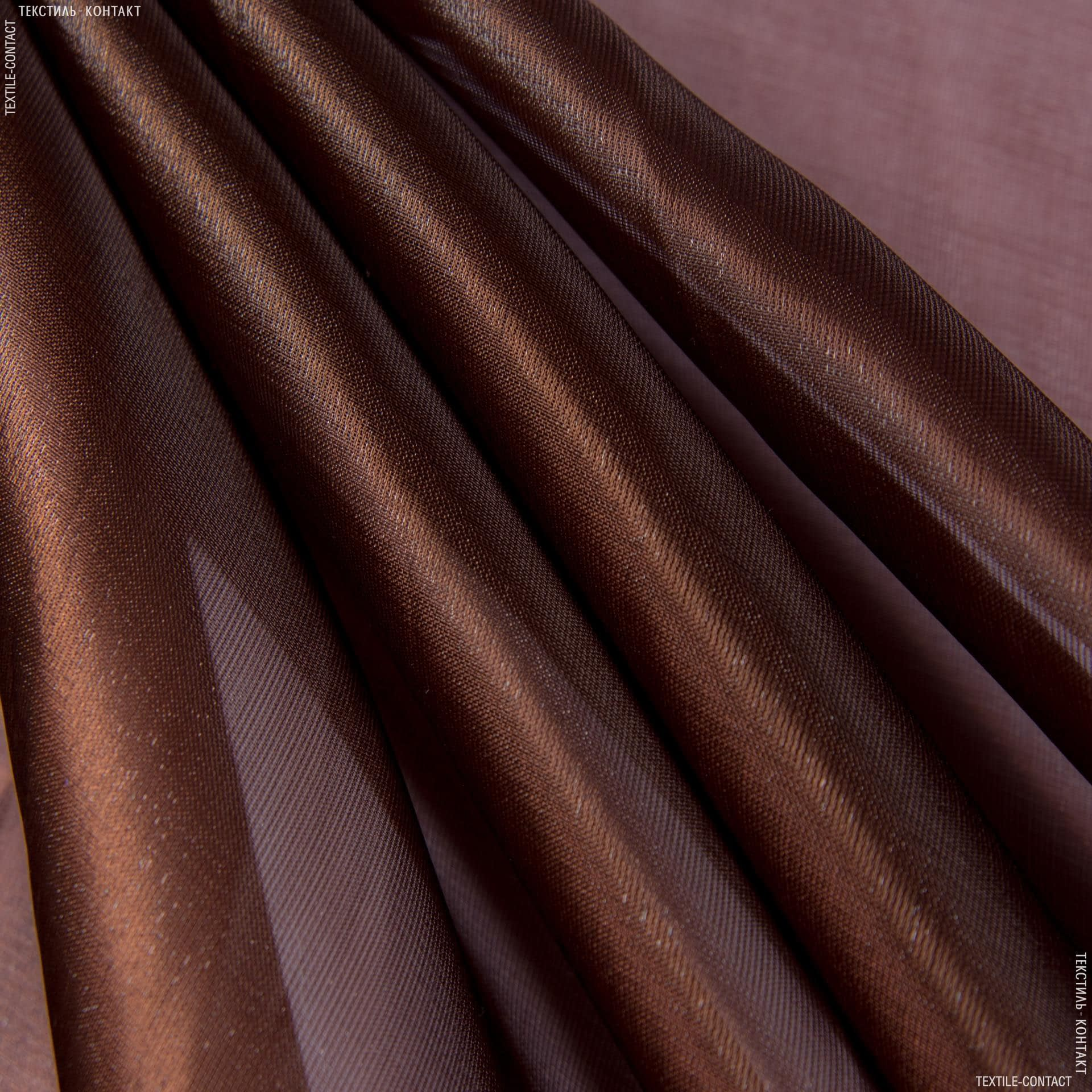 Ткани для платьев - Органза кристалл темно-коричневый