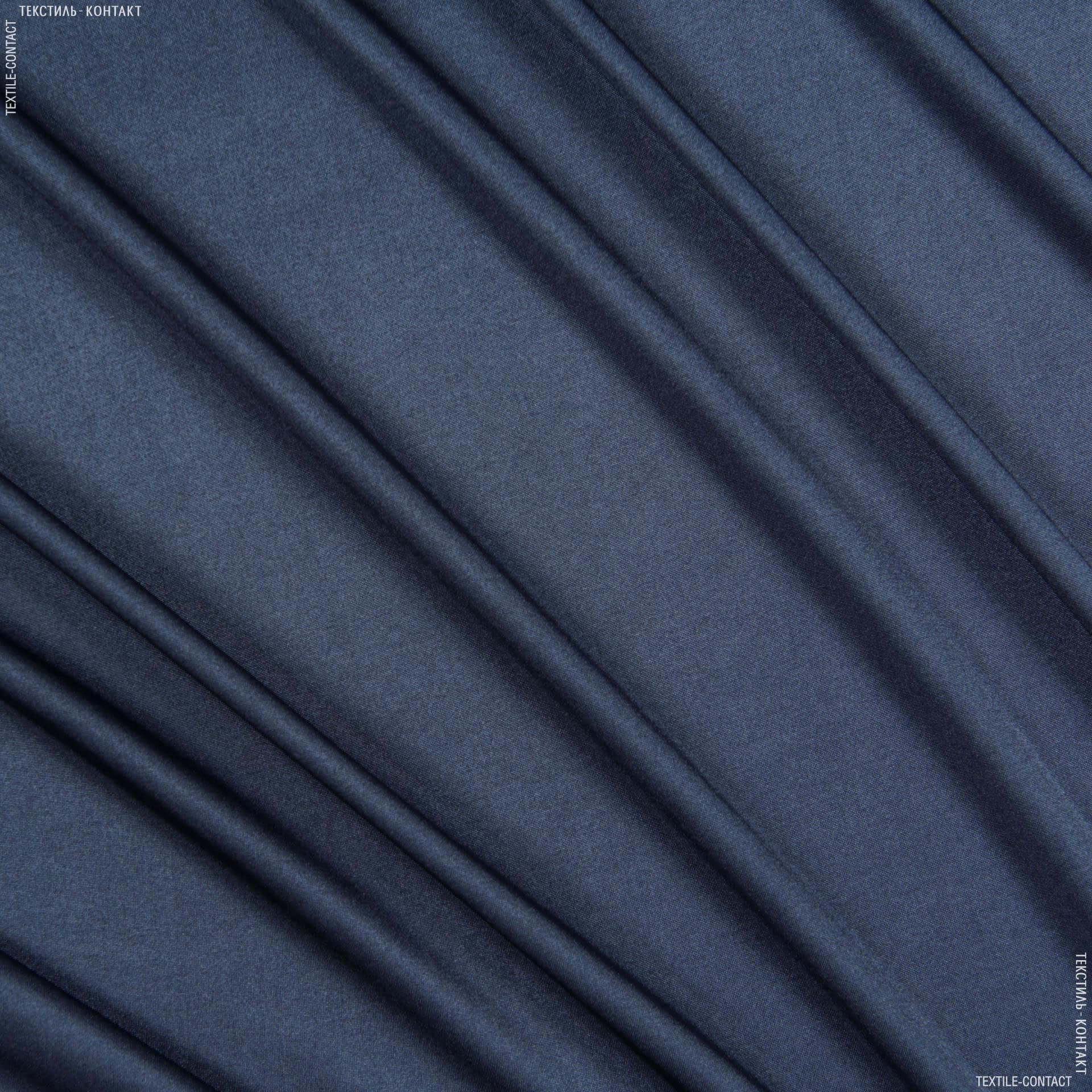 Ткани для платьев - Трикотаж жасмин тонкий темно-синий