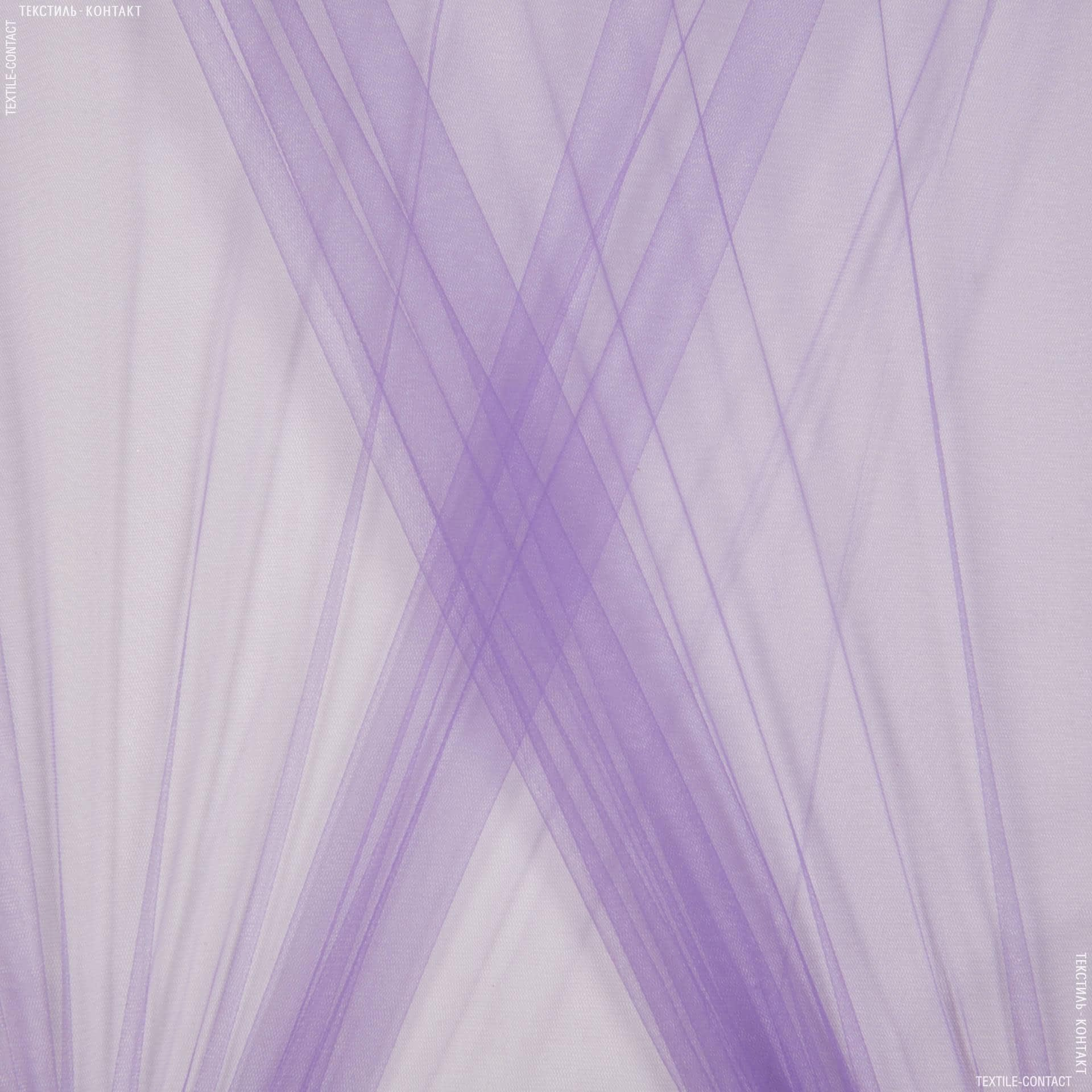 Ткани для платьев - Фатин мягкий темно-сиреневый