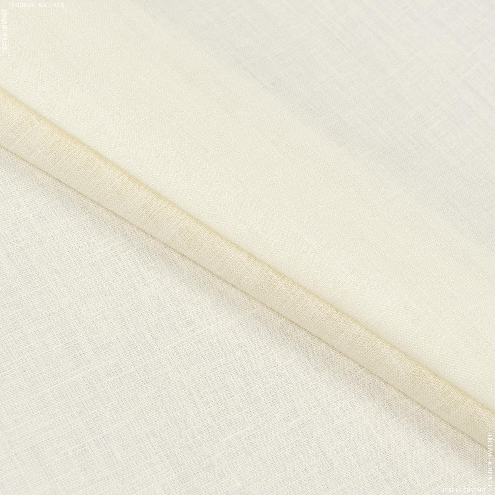 Тканини для суконь - Льон світло-кремовий