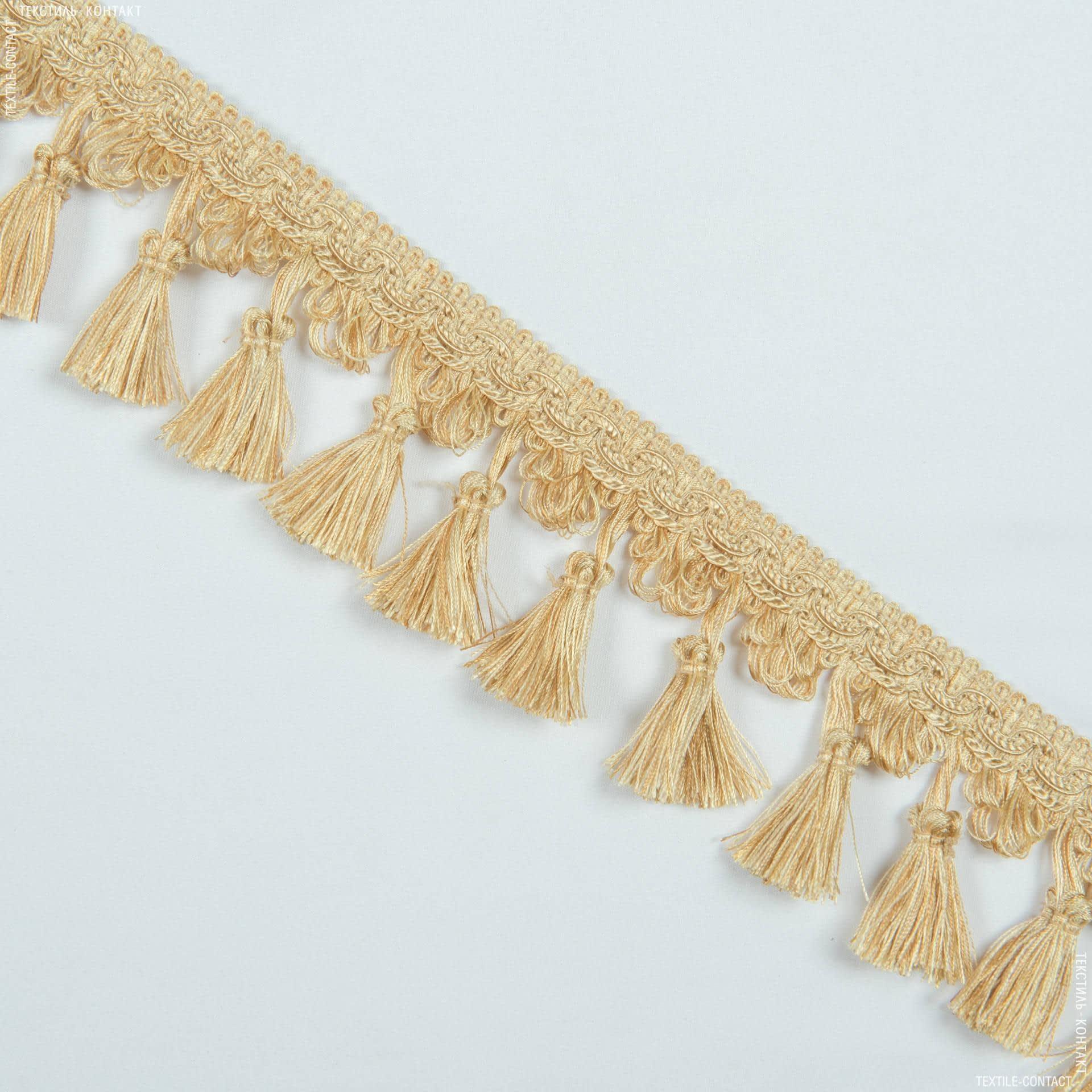 Ткани фурнитура для декора - Бахрома солар кисточка св.золото