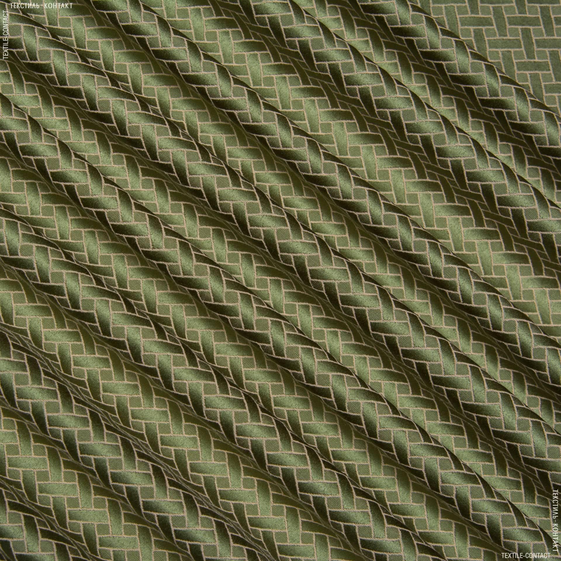 Тканини для банкетних і фуршетніх спідниць - Скатертна тканинаверсаль ромб зелений