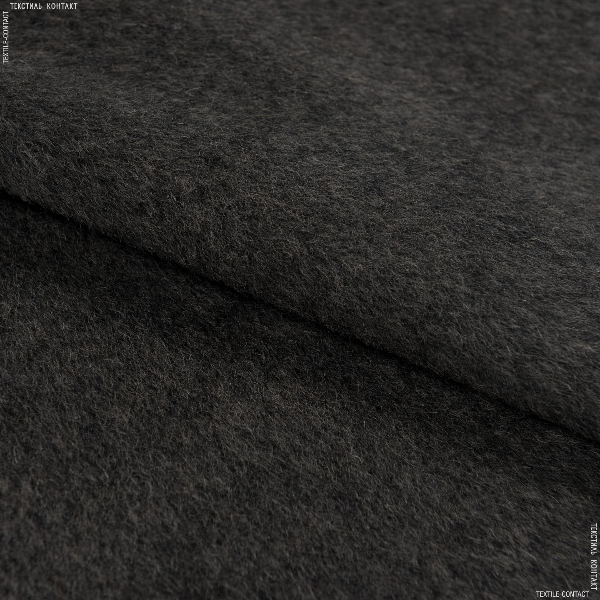 Тканини для верхнього одягу - Пальтова альпака ворсова темно-коричневий