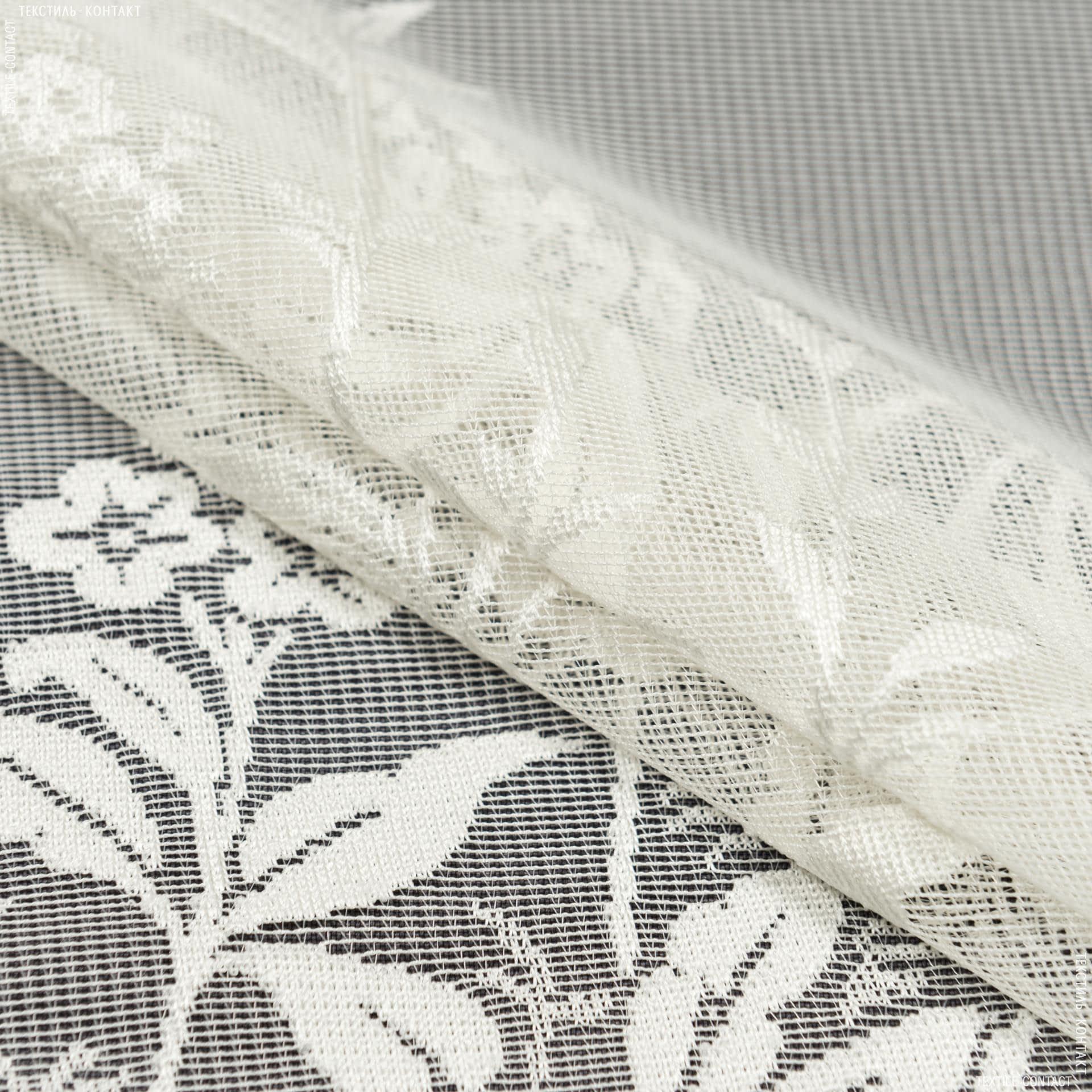 Тканини гардинні тканини - Гардинне полотно гіпюр шампань