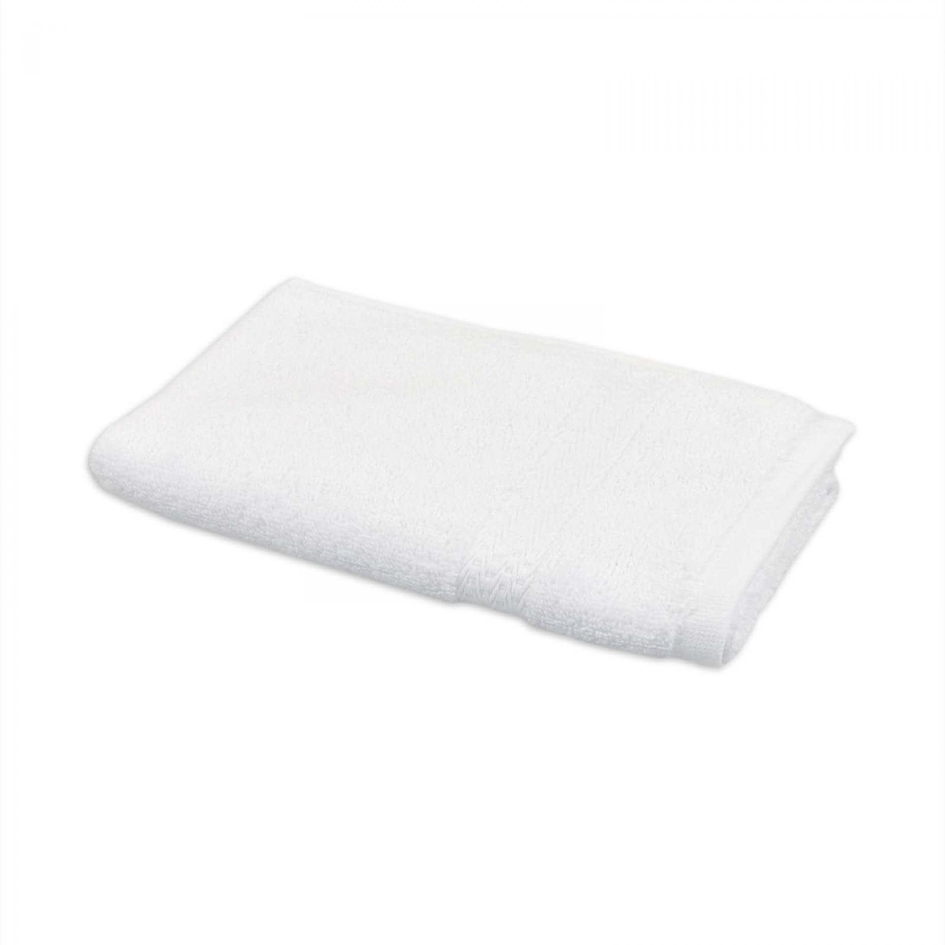 Ткани махровые полотенца - ПОЛОТЕНЦЕ МАХРОВОЕ  50х90 БЕЛЫЙ