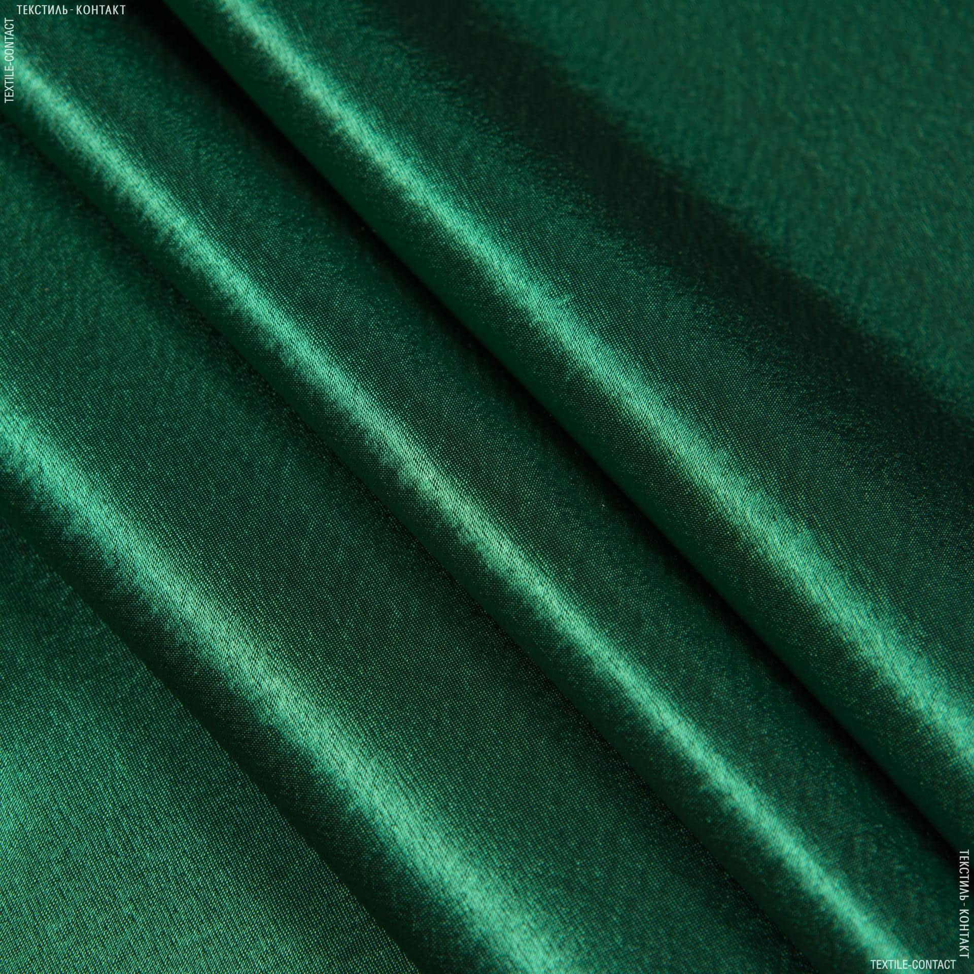 Тканини для банкетних і фуршетніх спідниць - Креп-сатин темно-зелений