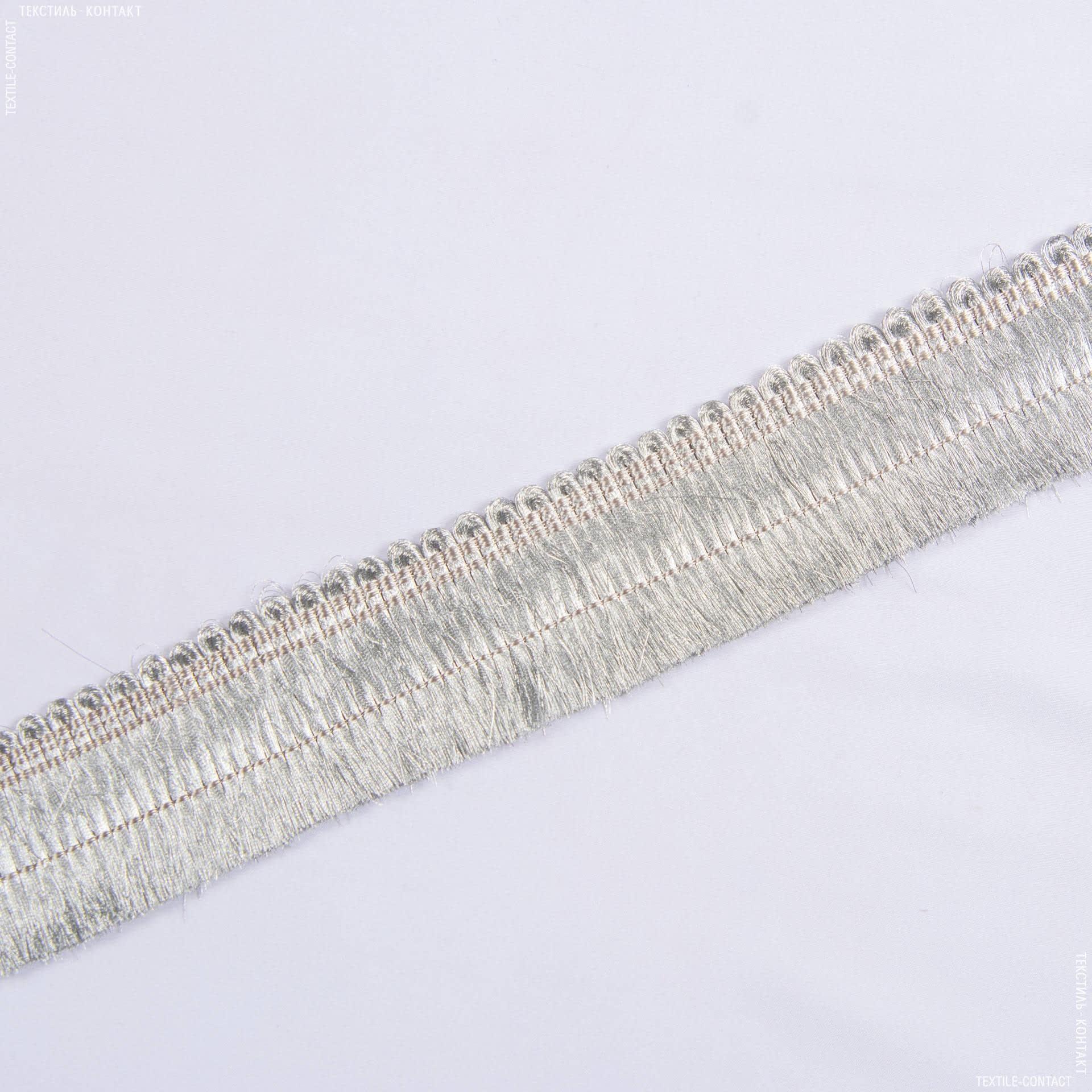 Тканини фурнітура для декора - Бахрома gold св/сірий