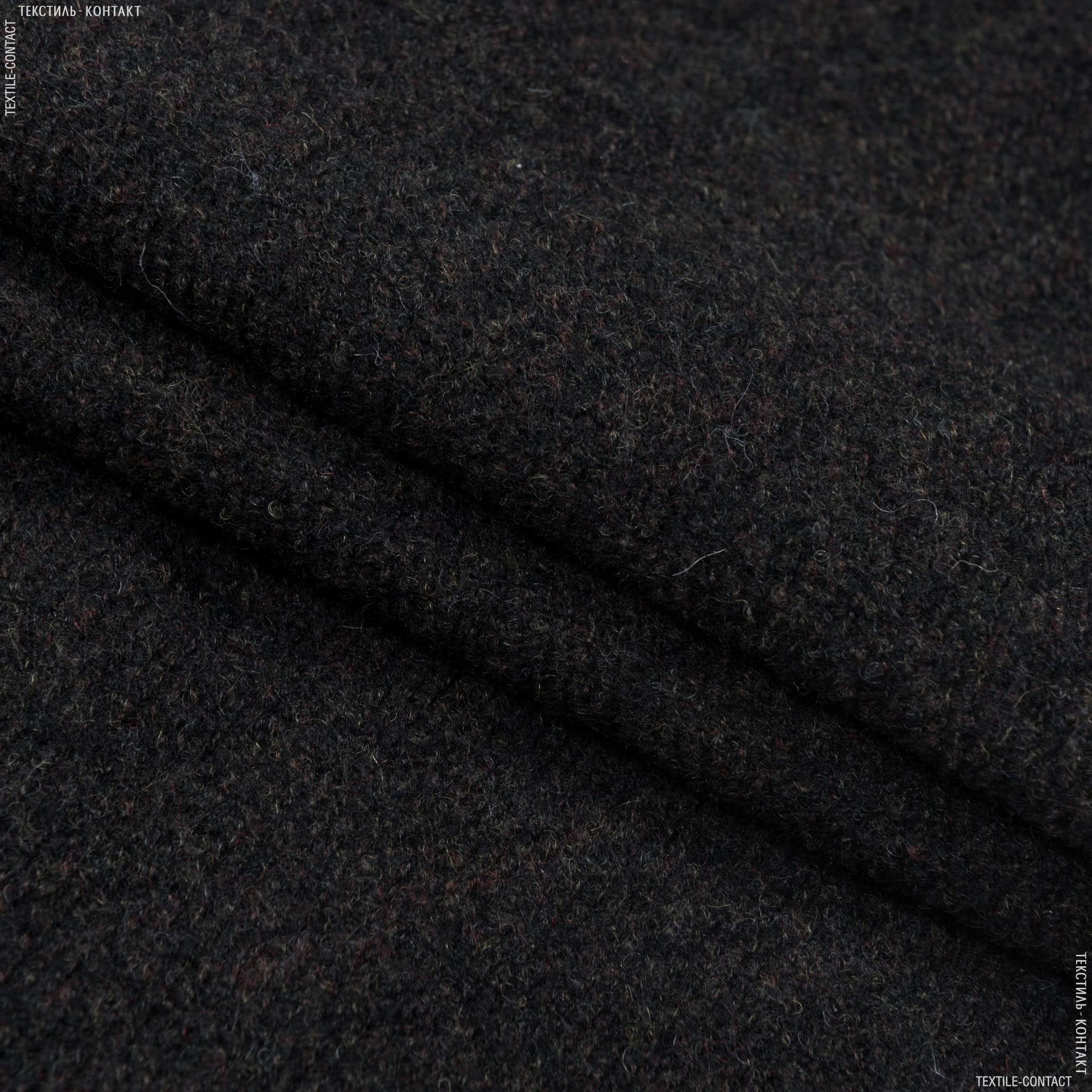 Тканини для верхнього одягу - Пальтовий ратин темно-зелений