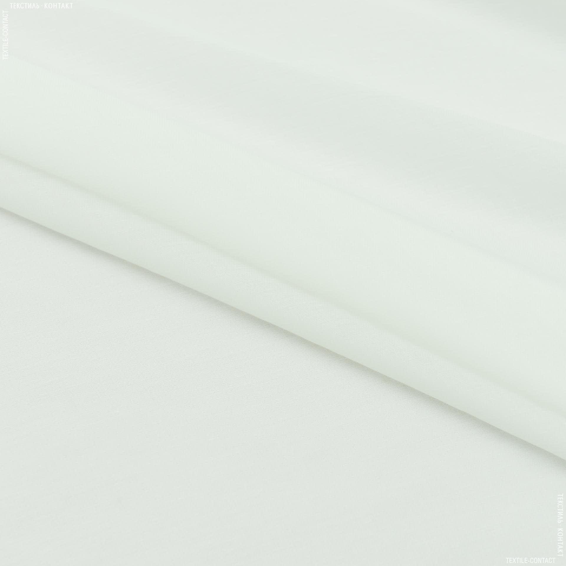 Ткани для драпировки стен и потолков - Тюль батист с утяжелителем лара  кремово-молочный