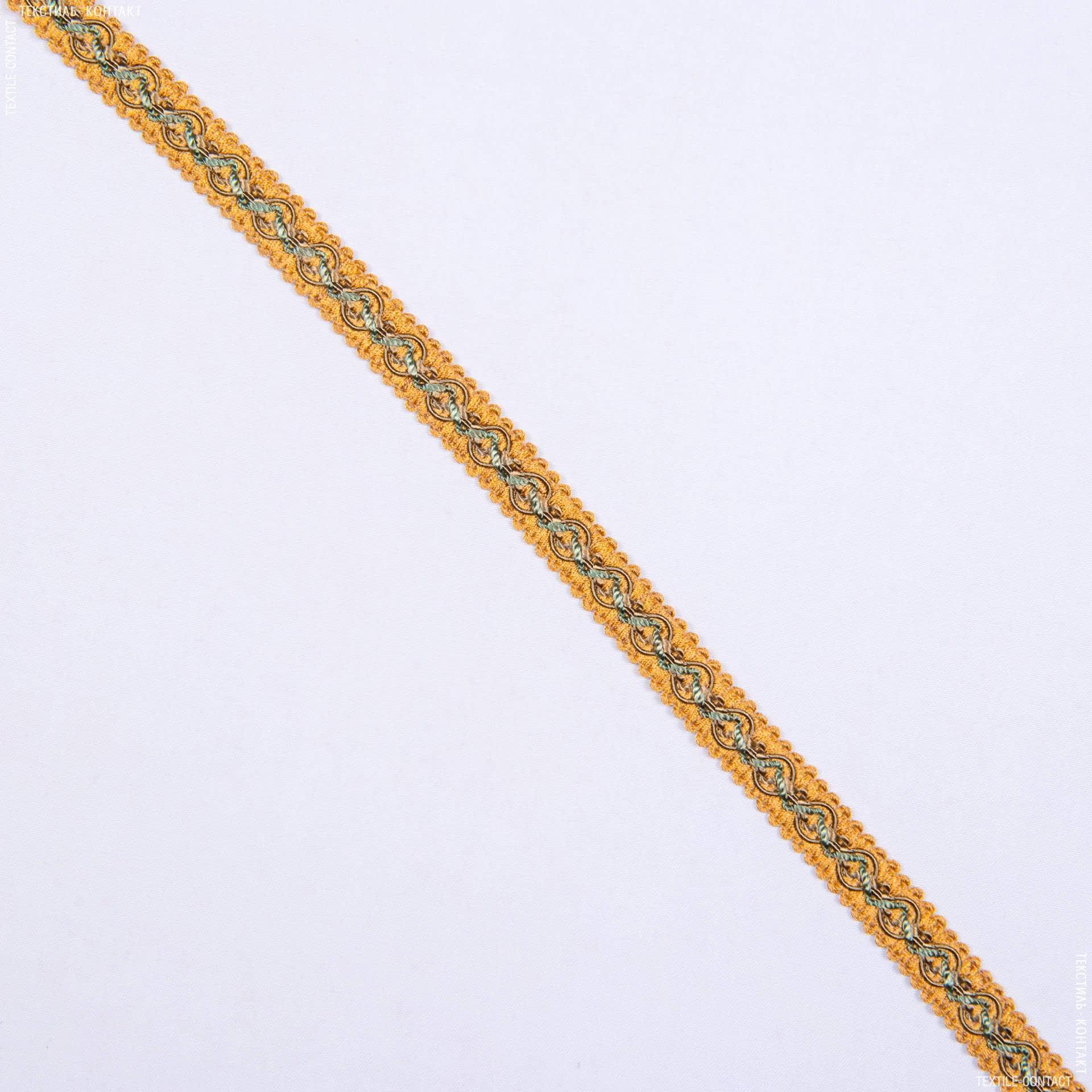 Ткани фурнитура для декора - Тесьма окантов. Имедженейшен, оливка-золото