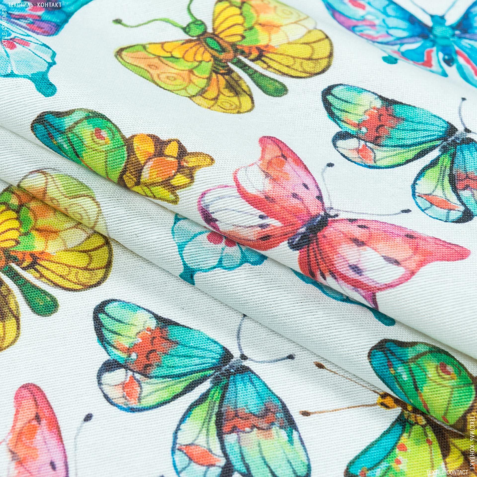 Ткани портьерные ткани - Декоративная ткань   реф бабочки /ref  мультиколор