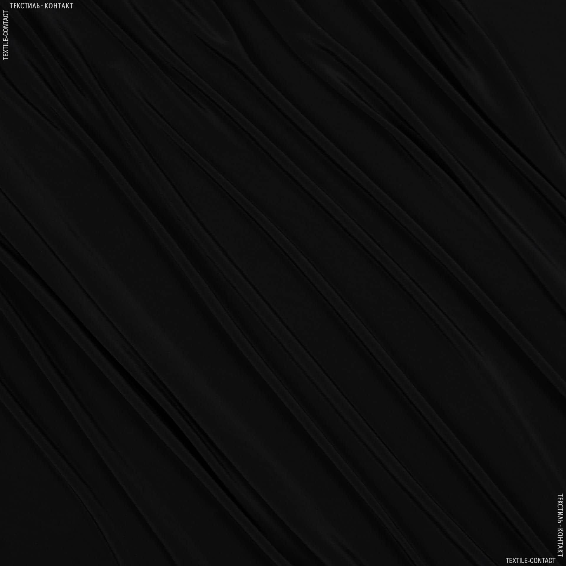 Ткани для платков и бандан - Креп кошибо черный