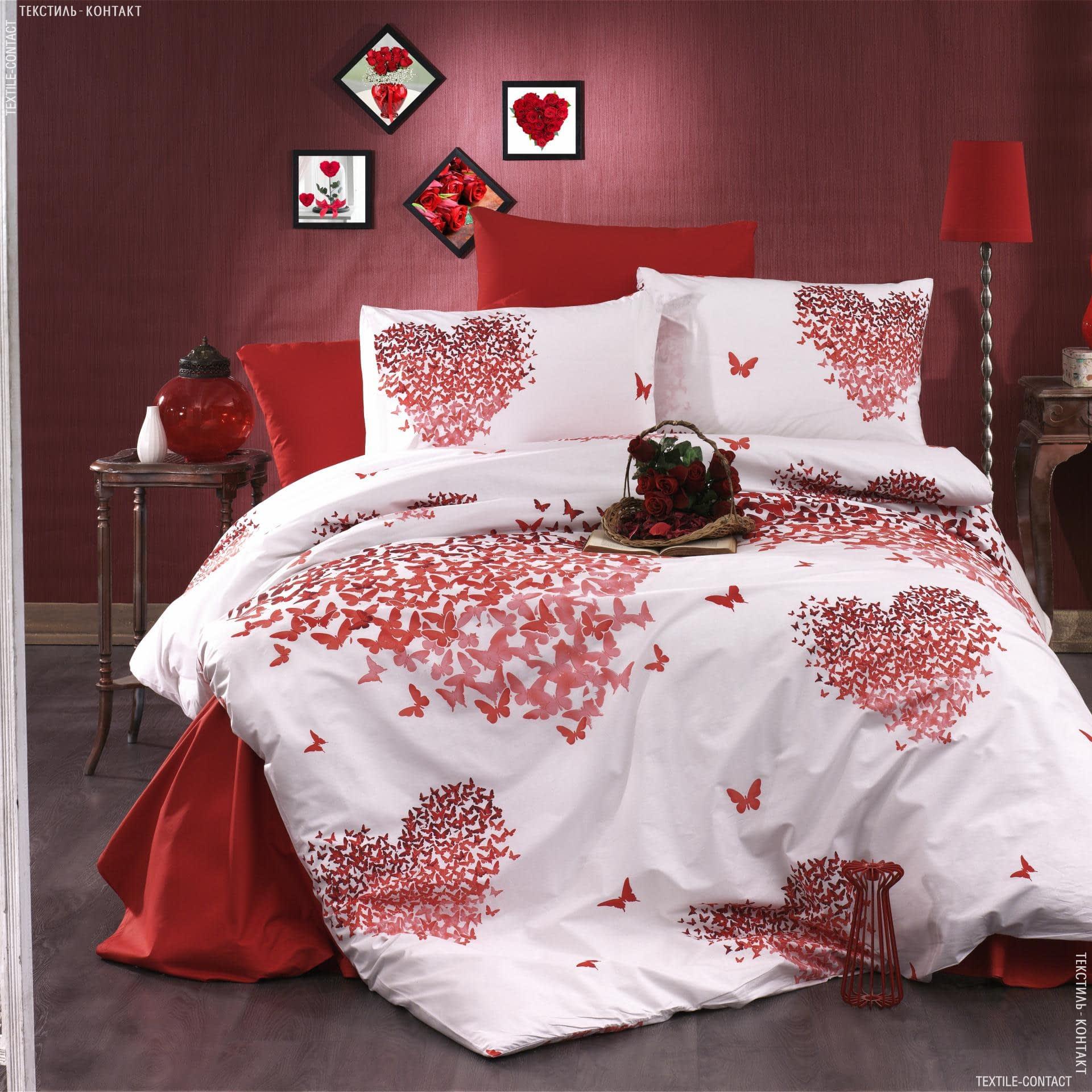 Ткани для постельного белья - Бязь набивная RANFORCE LUX сердца