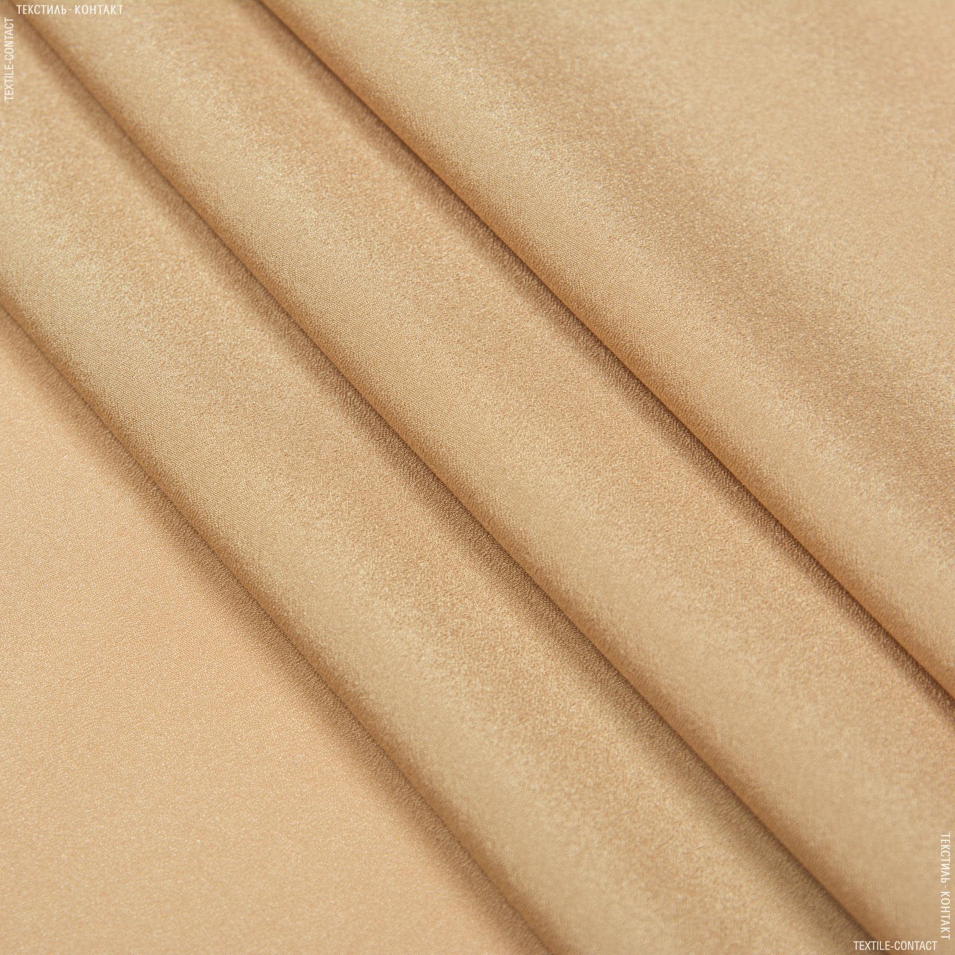Тканини крепдешин - Крепдешин темно-бежевий
