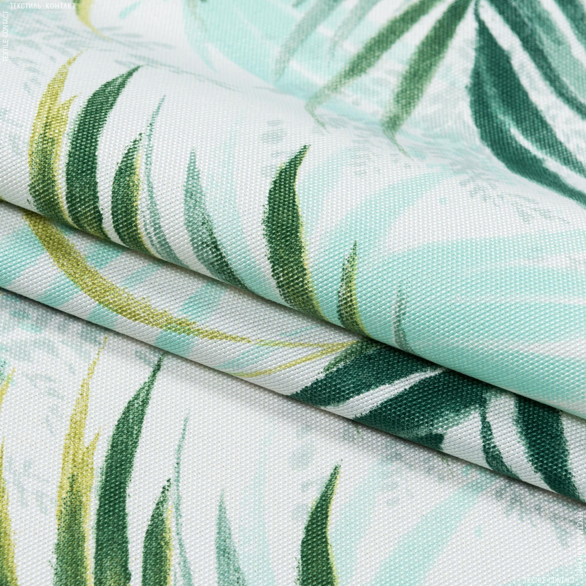 Ткани портьерные ткани - Декоративная ткань  macapa листья т.зеленый  фисташка