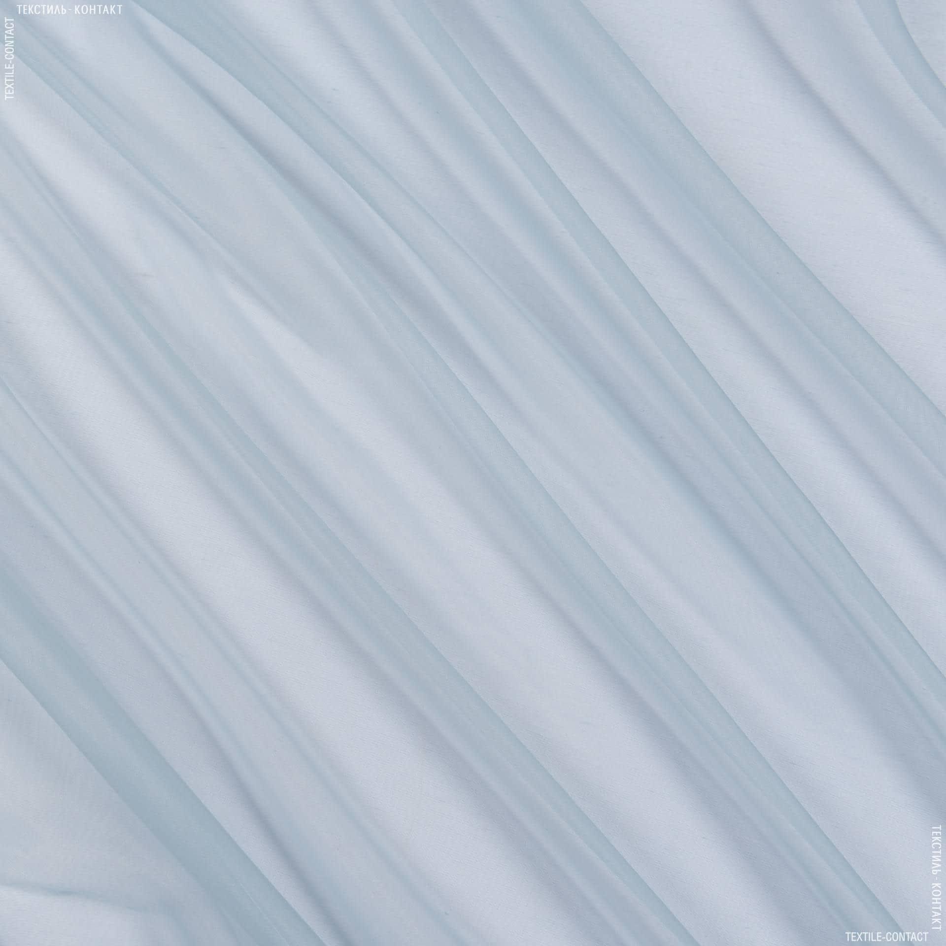Ткани для тюли - Органза-батист однотонная соната с утяжелителем св/голуб