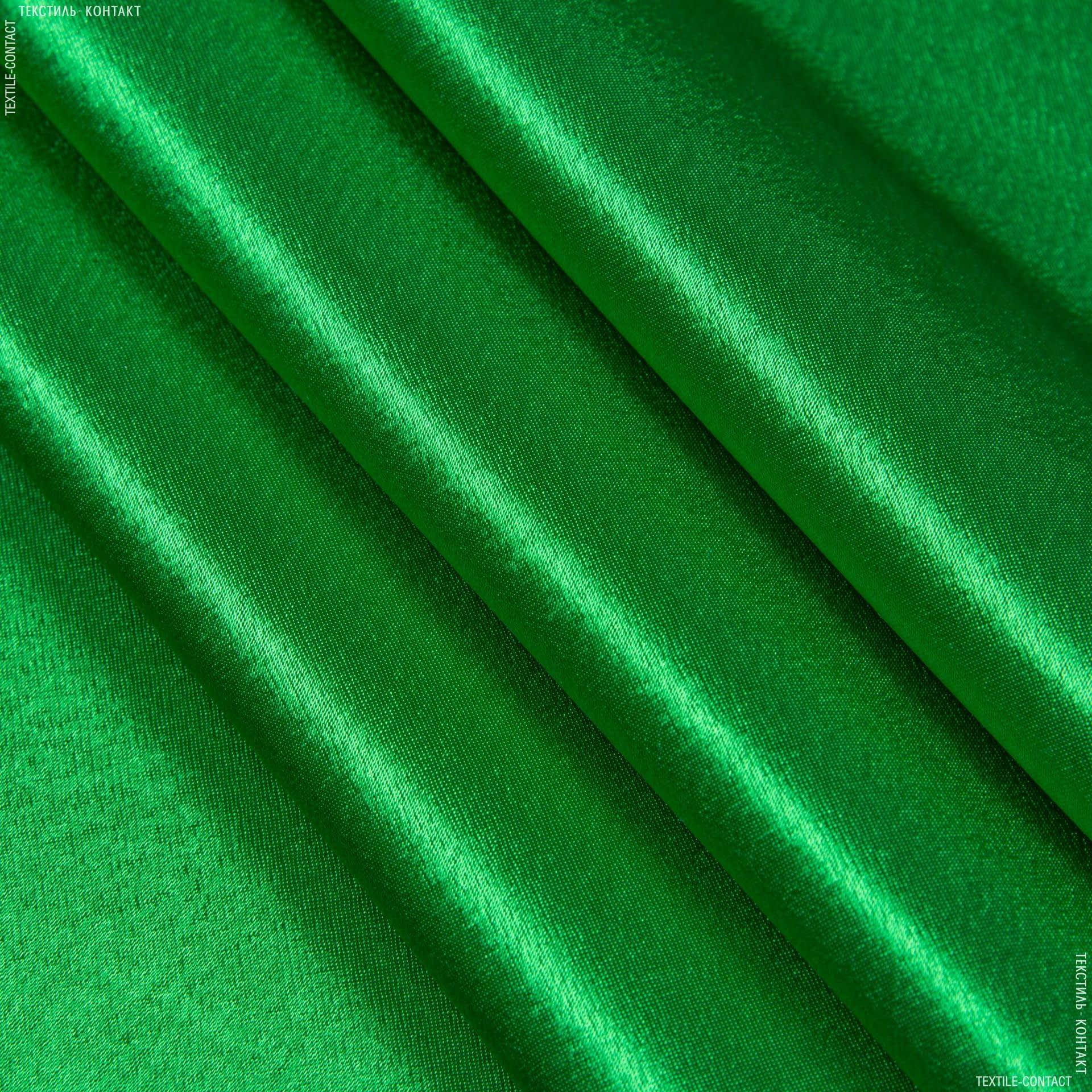 Тканини для суконь - Креп-сатин зелений