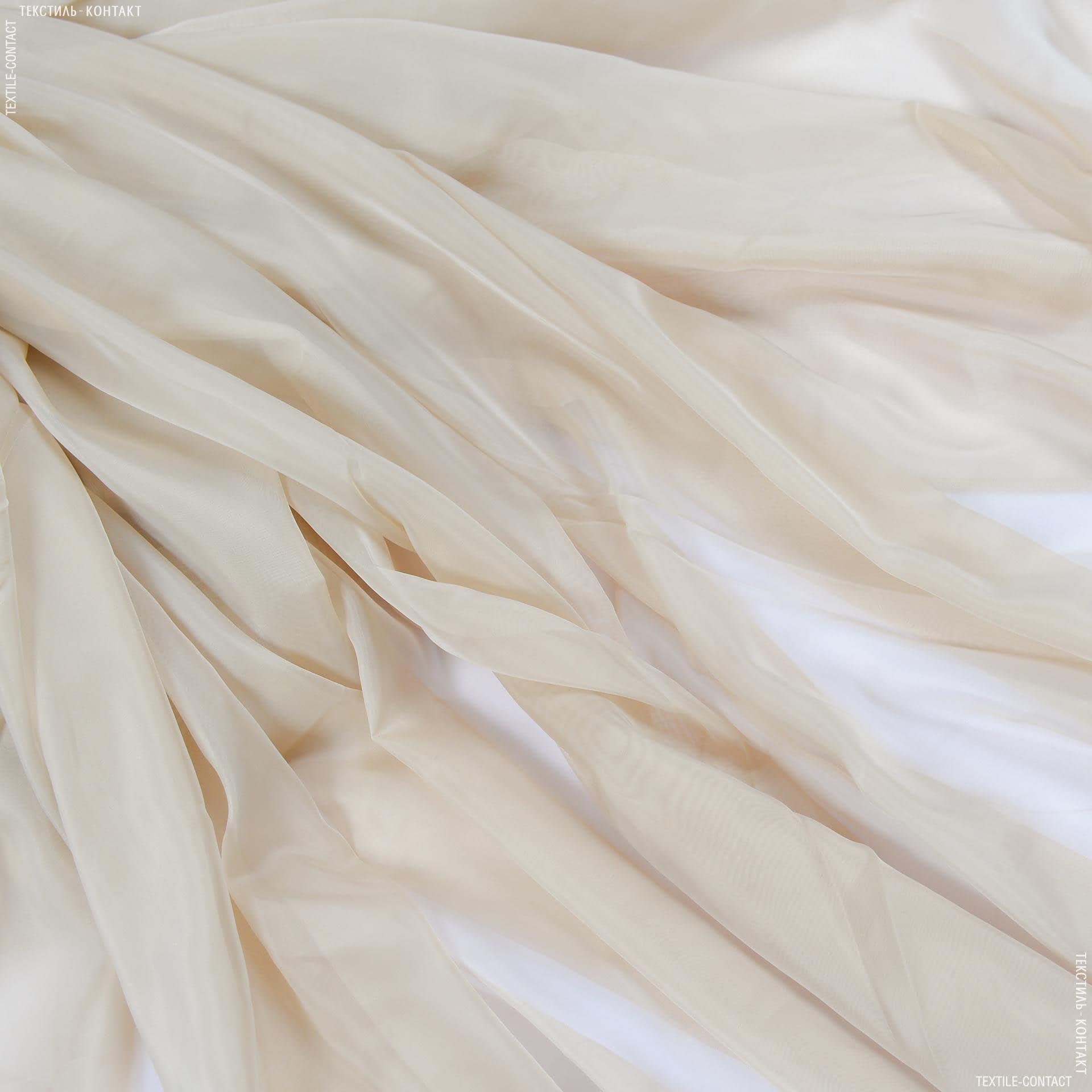 Тканини гардинні тканини - Тюль вуаль-шовк т.пісок