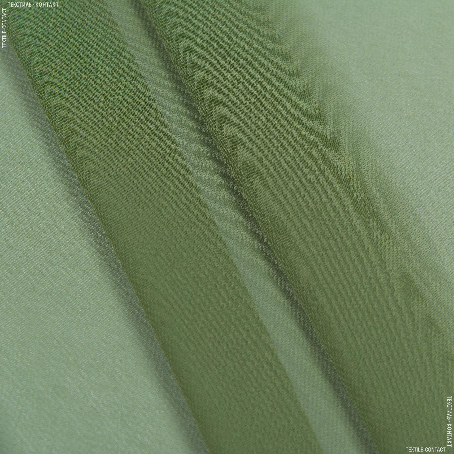 Ткани для платков и бандан - Шифон мульти темно-оливковый