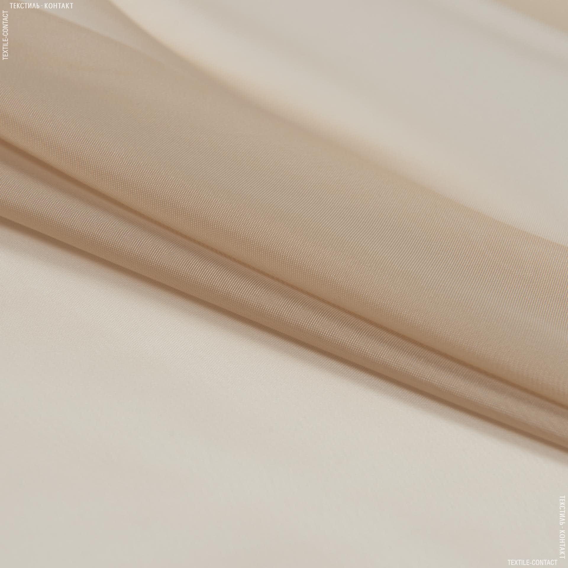 Ткани для драпировки стен и потолков - Тюль  вуаль т.беж